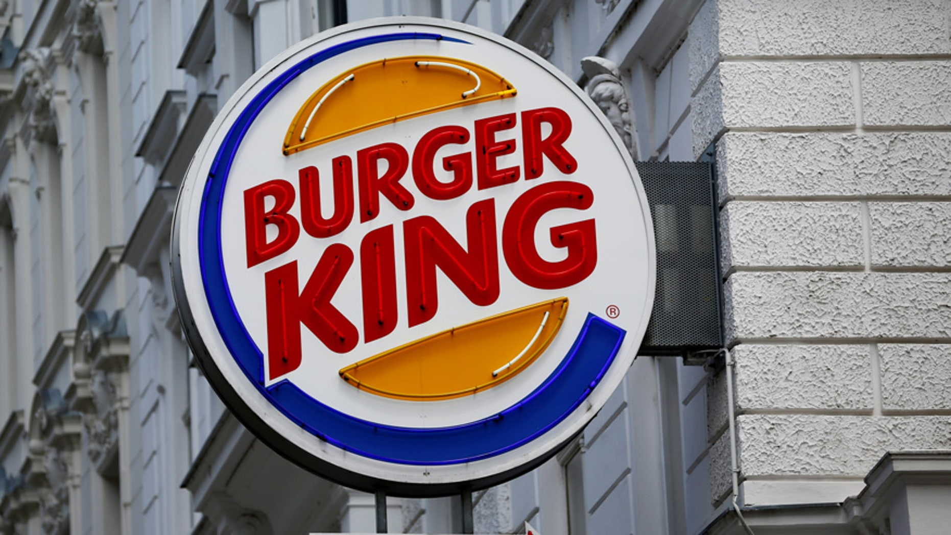A Burger King sign is seen outside a location in Vienna, Austria.