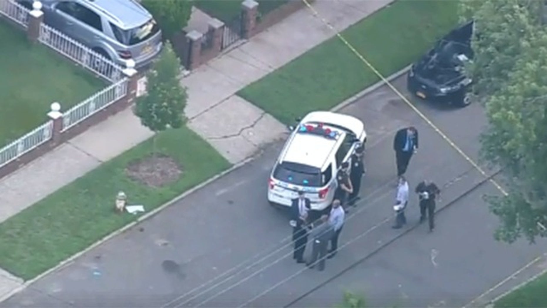 A New York resident reportedly beat and stabbed a would-be burglar Monday morning.