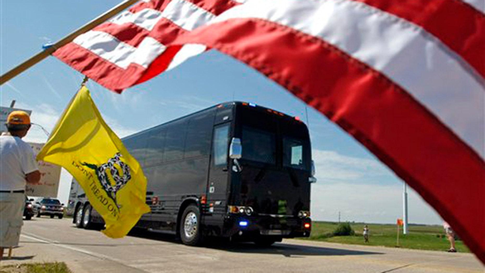 Aug. 16: President Obama's motorcade makes its way through Peosta, Iowa, en route to the Rural Economic Forum at the Northeast Iowa Community College.