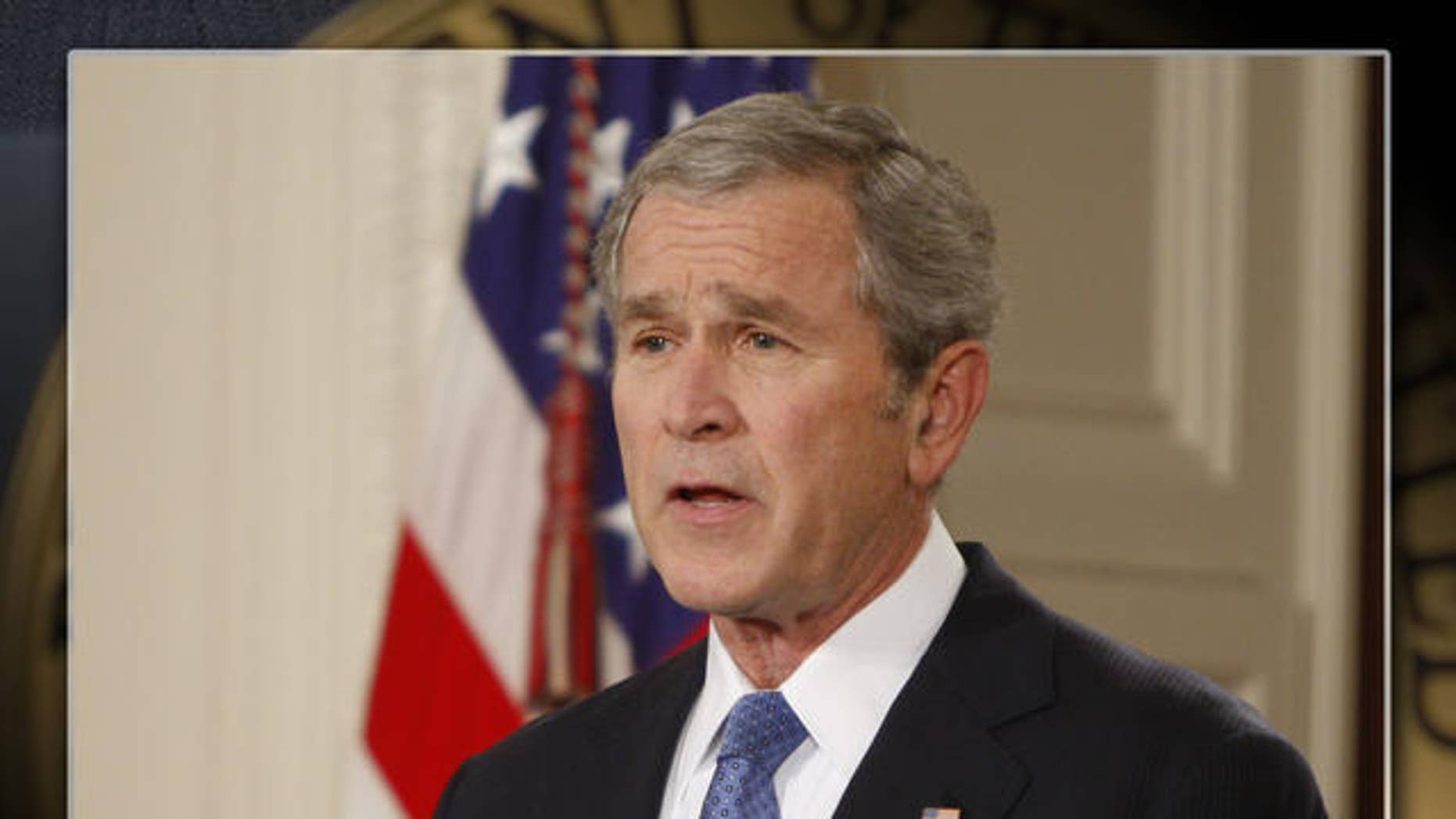 President George W. Bush gives a farewell address to the nation, Thursday, Jan. 15, 2009, in the East Room of the White House in Washington. (AP Photo/Ron Edmonds)