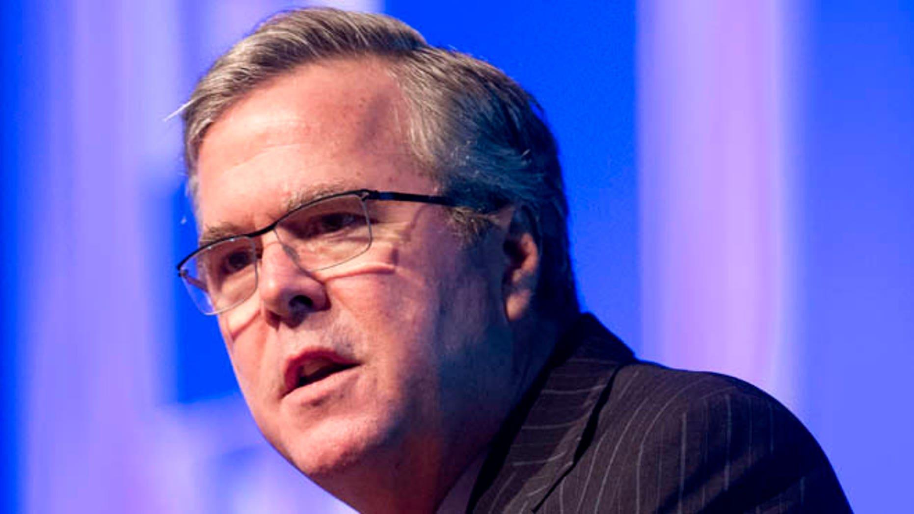 Jan. 29, 2014: Former Florida Gov. Jeb Bush speaks in Hollywood, Fla.