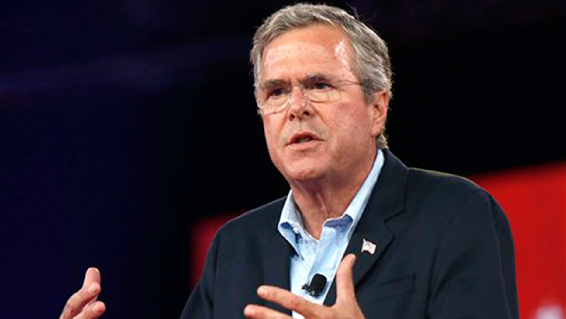 Republican presidential candidate, former Florida Gov. Jeb Bush, speaks at the Defending the American Dream summit hosted by Americans for Prosperity, Friday, Aug. 21, 2015, at the Greater Columbus Convention Center in Columbus, Ohio. (AP Photo/Paul Vernon)