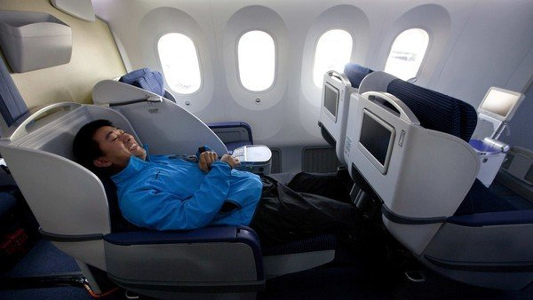 Business class aboard ANA airlines.