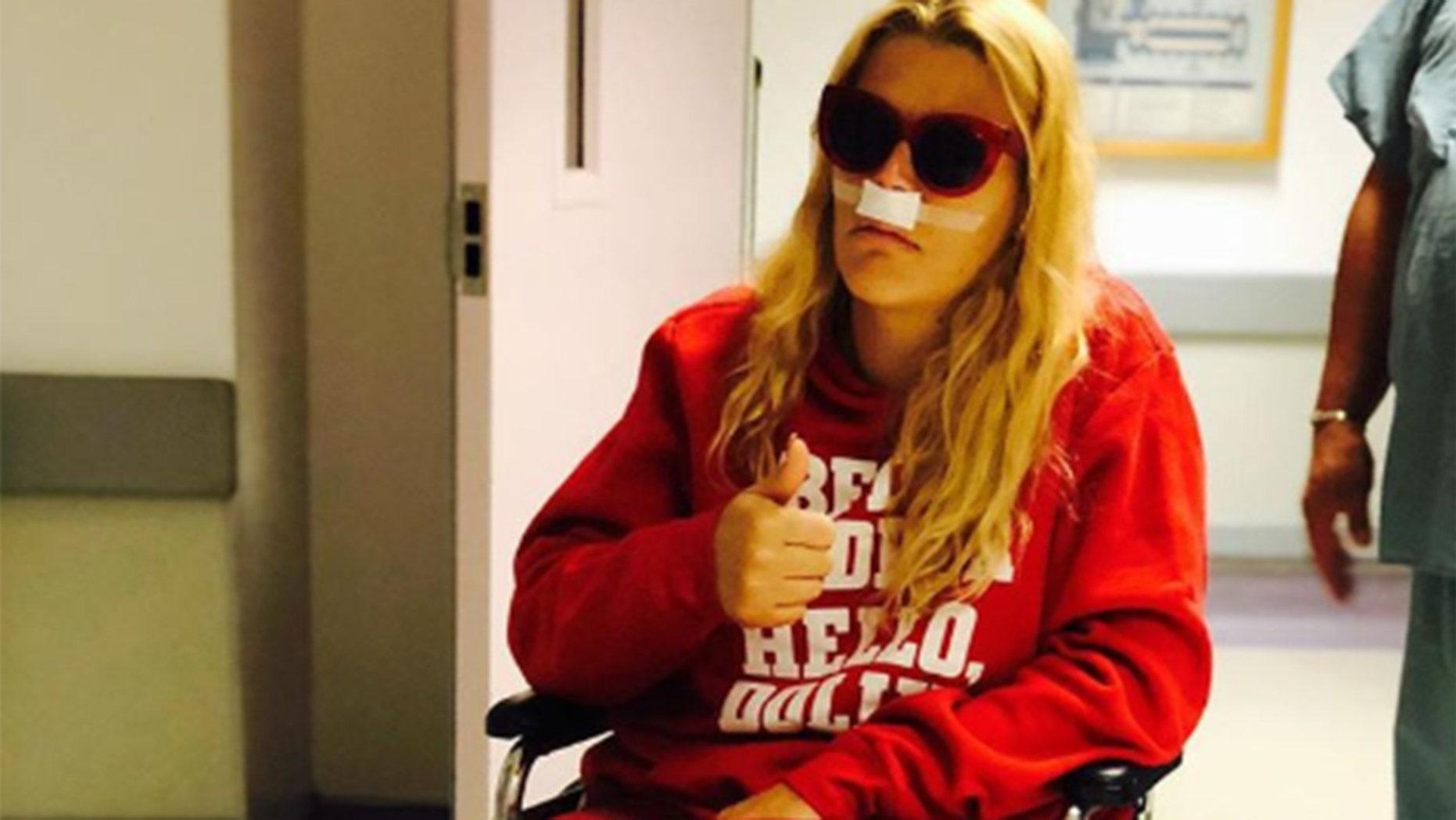 Busy Philipps revealed she had sinus surgery on Sunday.