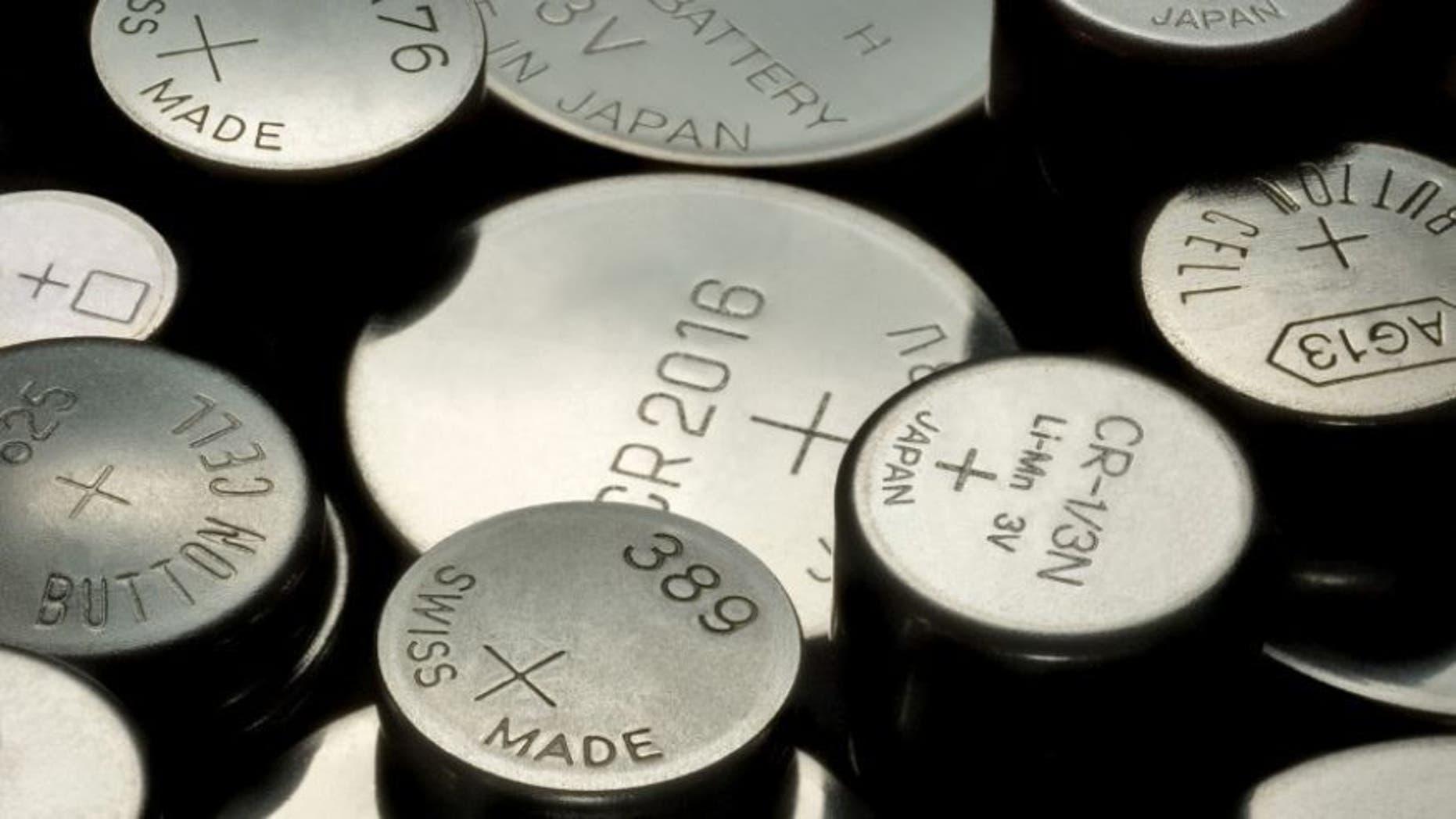 Button batteries.
