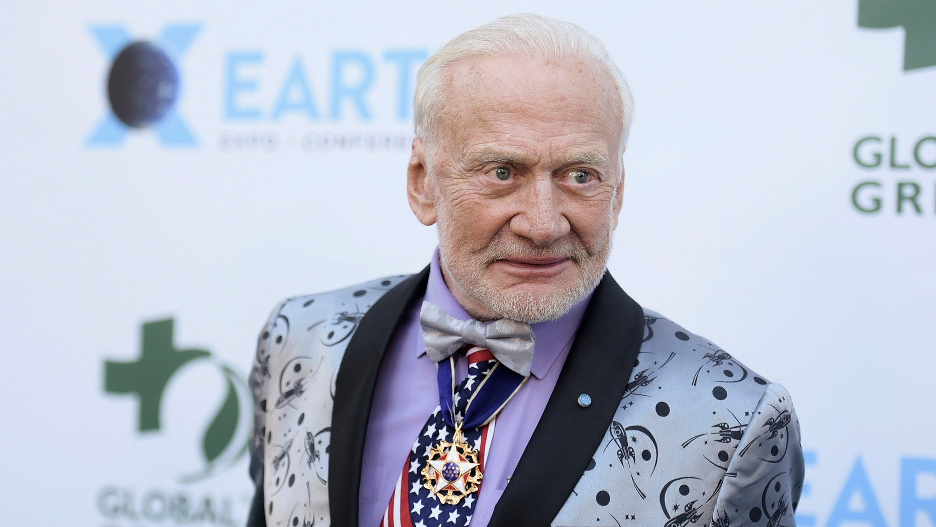 """Edwin """"Buzz"""" Aldrin was the second man to step foot on the moon."""