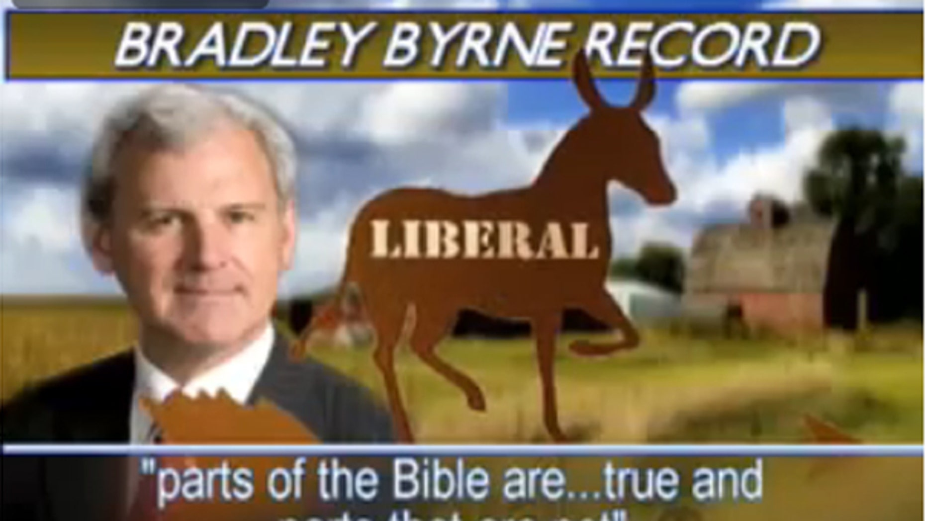 This ad was aired by True Republican PAC against Alabama gubernatorial candidate Bradley Byrne. (YouTube)