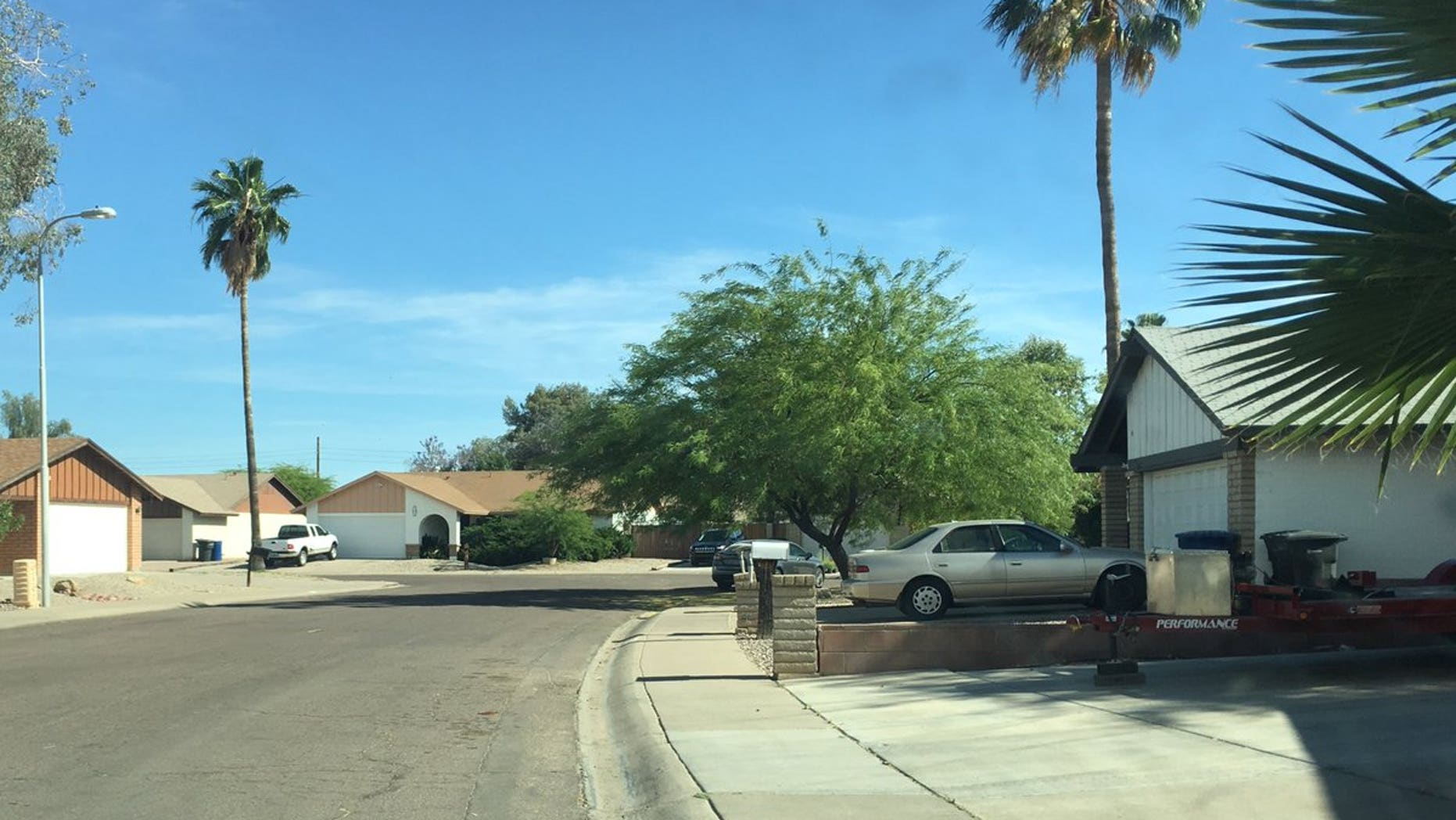 The scene of the kidnapping attempt in Chandler.
