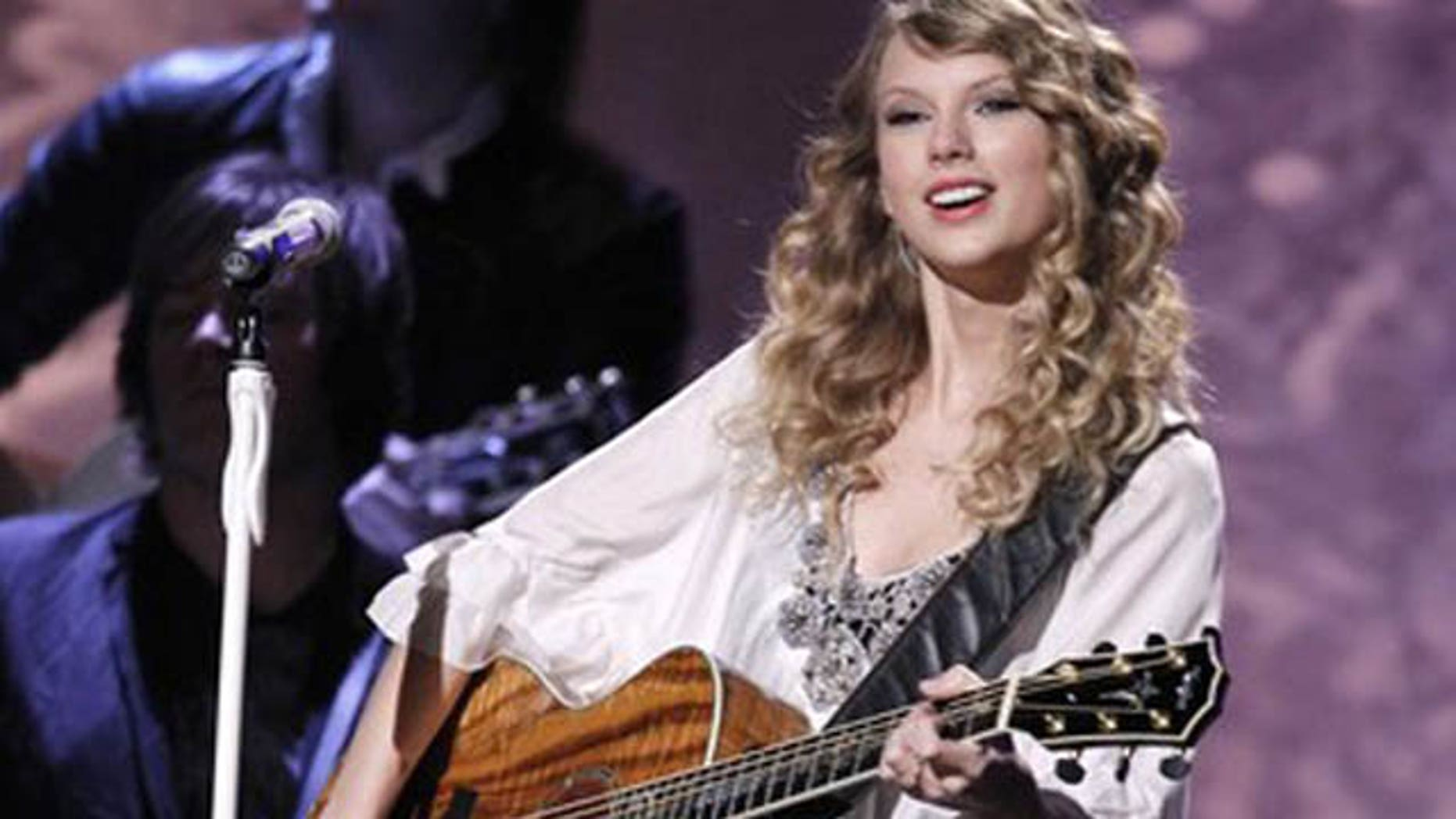 Jan. 31: Taylor Swift performs at the 52nd annual Grammy Awards in Los Angeles.
