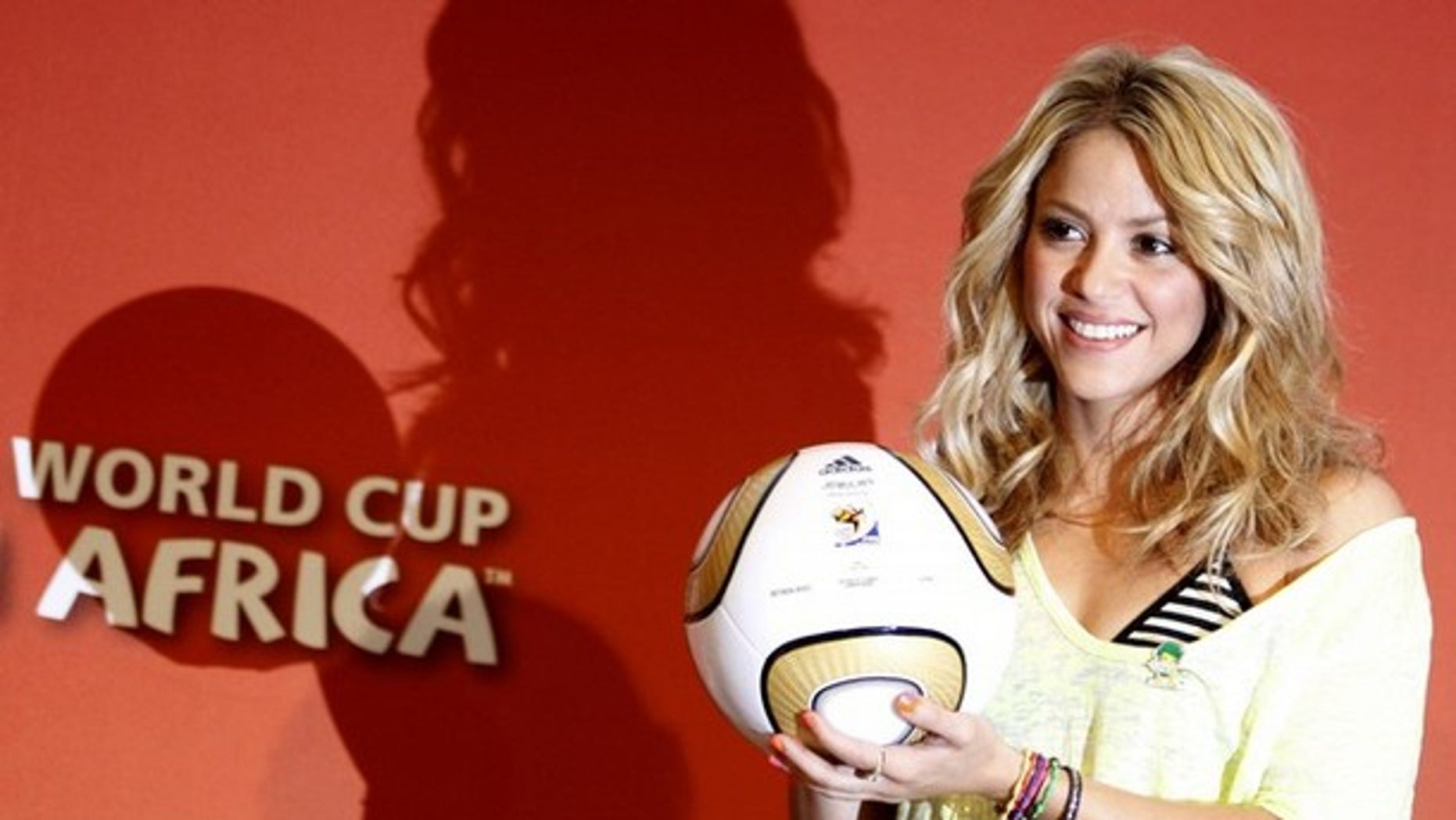 Shakira at the Soccer City stadium in Johannesburg July 10, 2010. (Reuters)