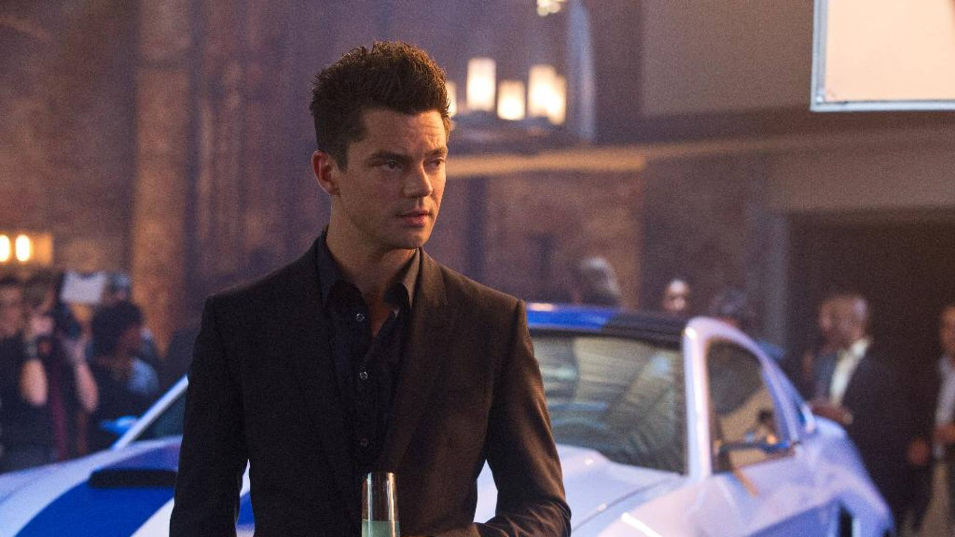 "This image released by DreamWorks II shows Dominic Cooper in a scene from ""Need for Speed."" (AP Photo/DreamWorks II, Melinda Sue Gordon)"