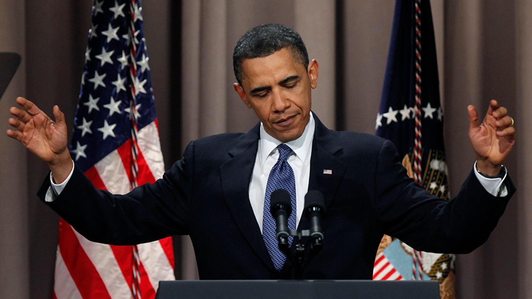 President Barack Obama speaks at Cooper Union in New York April 22, 2010.