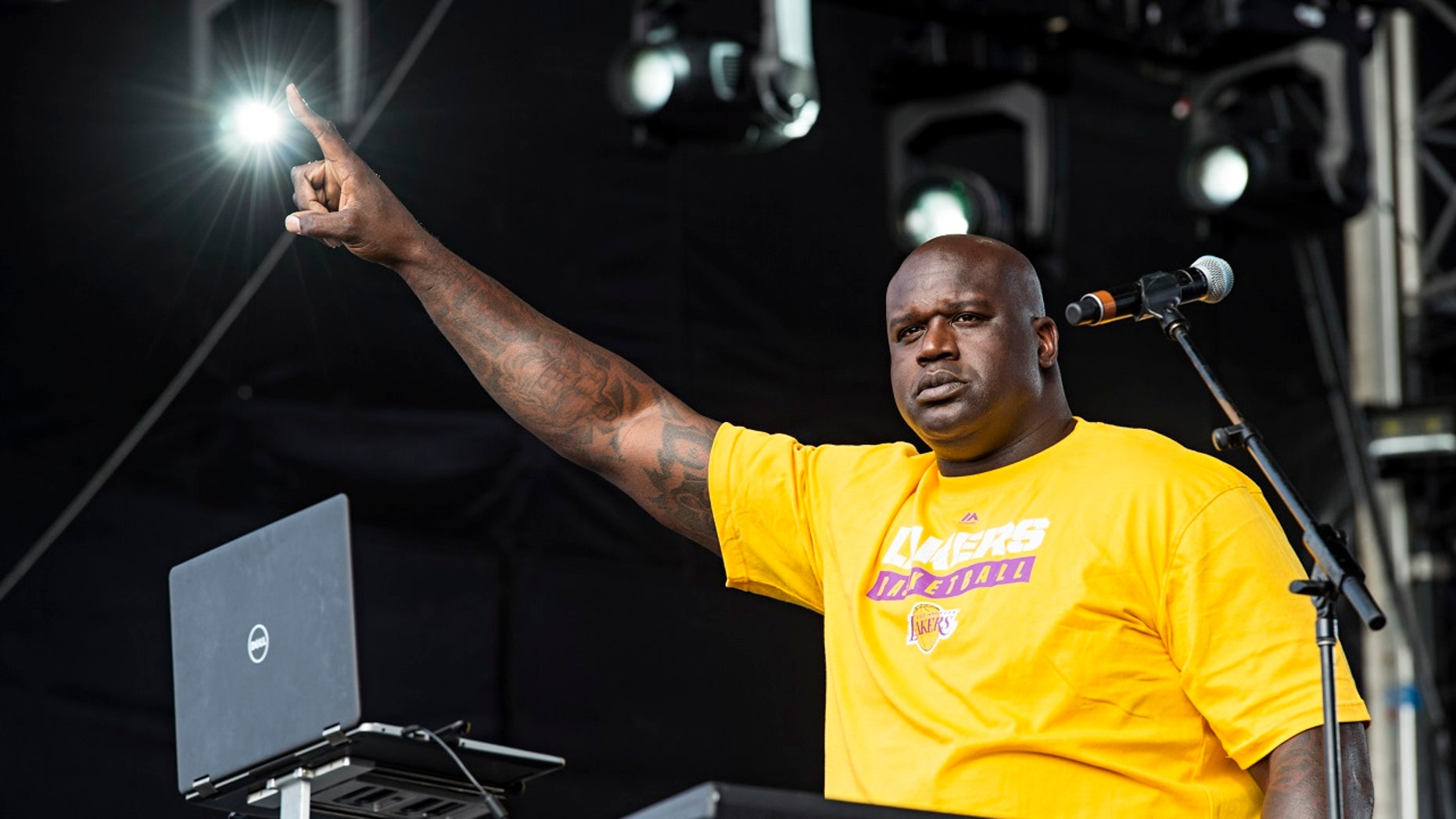 Shaquille O'Neal shared a video of a 'dance battle' with Rob Gronkowski on Instagram Saturday.