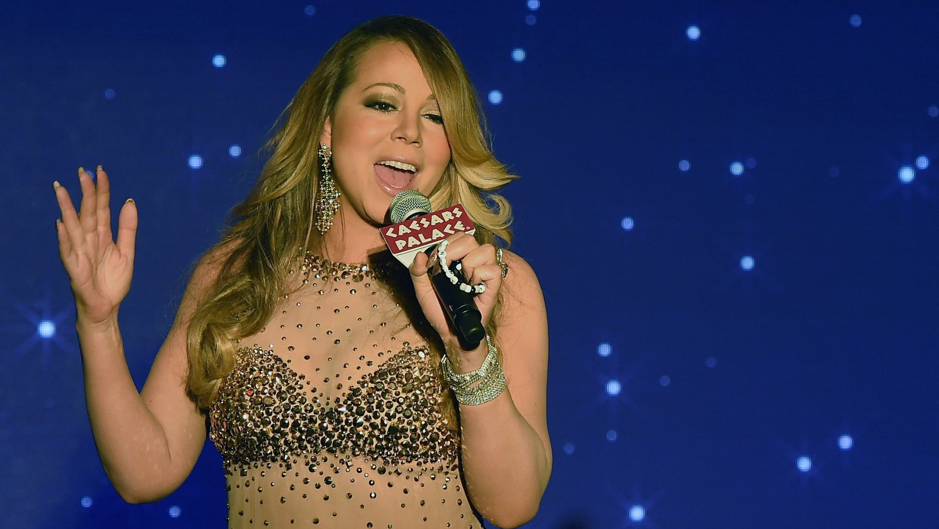 Mariah Carey on April 27, 2015 in Las Vegas, Nevada.