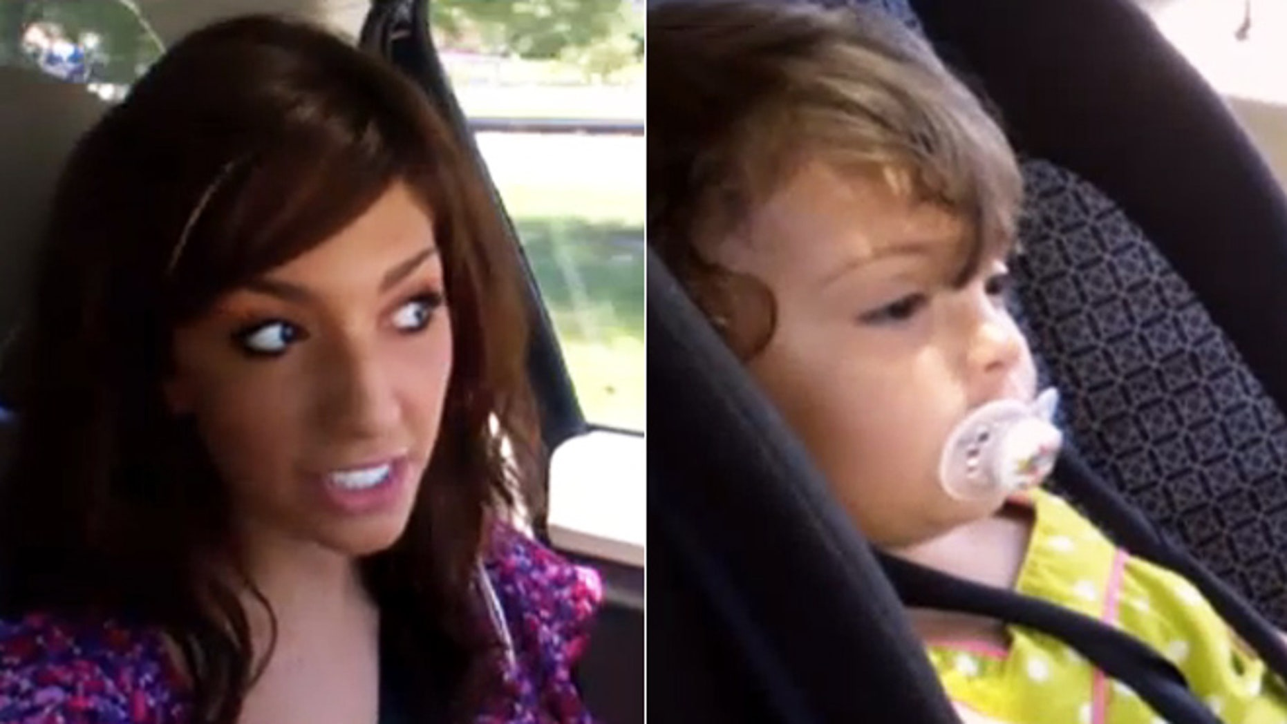 Farrah Abraham, left, and daughter Sophia, right.
