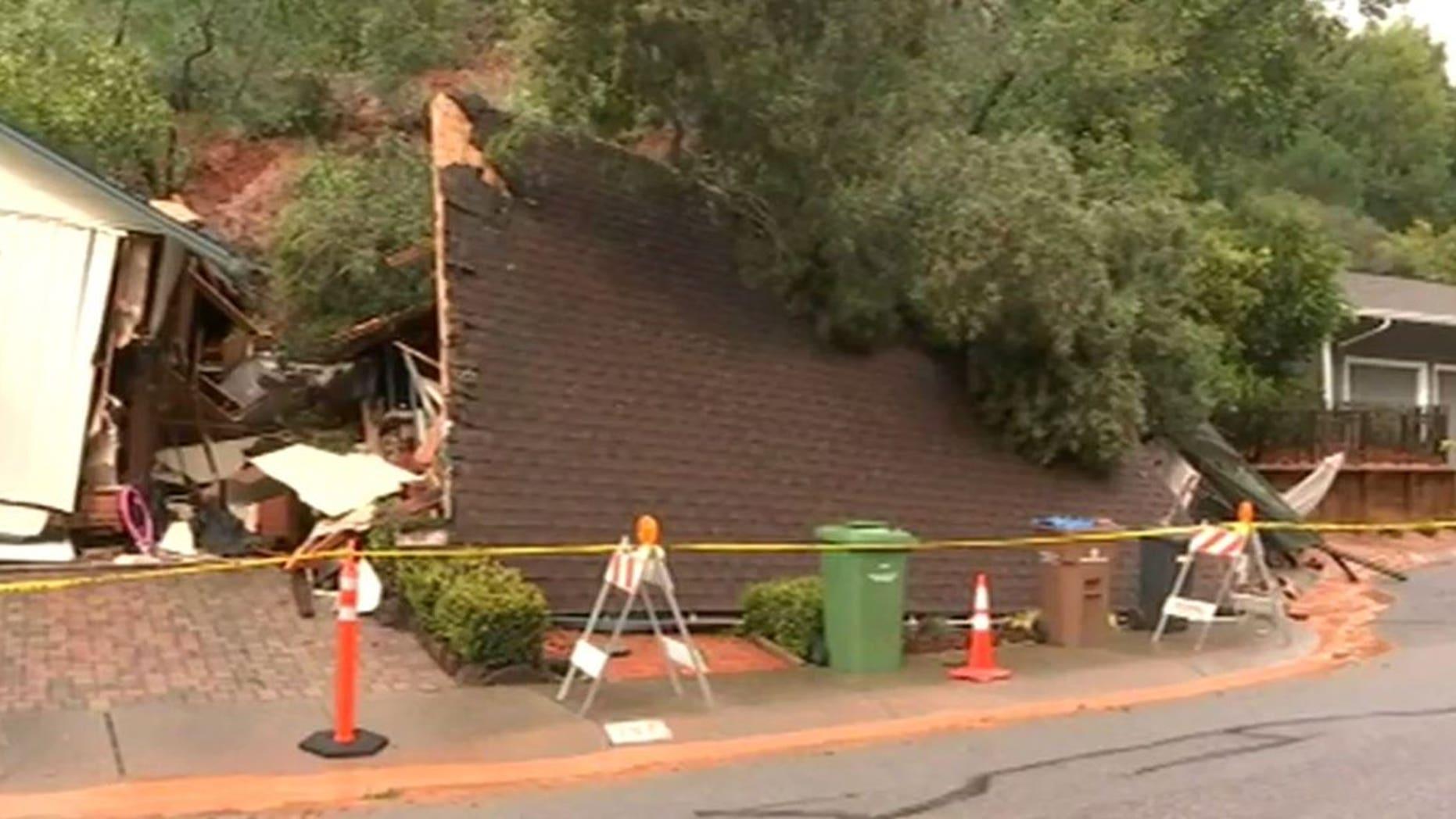 A mudslide destroyed a home in San Rafael.