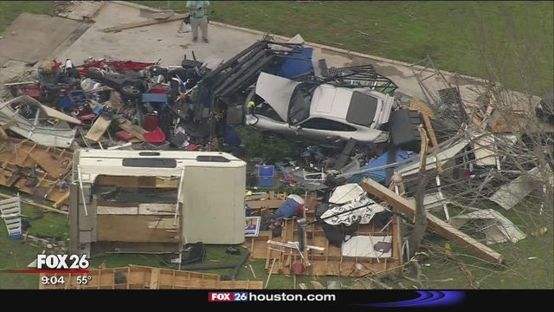The powerful storm system tore through Richmond, damaging and destroying homes.