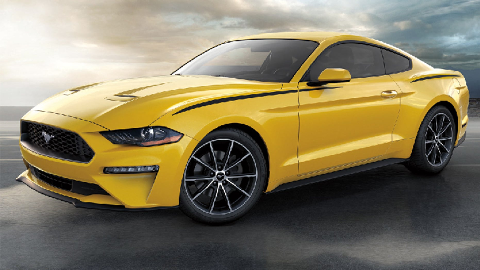 Wilson was driving a yellow 2018 Ford Mustang similar to this one.