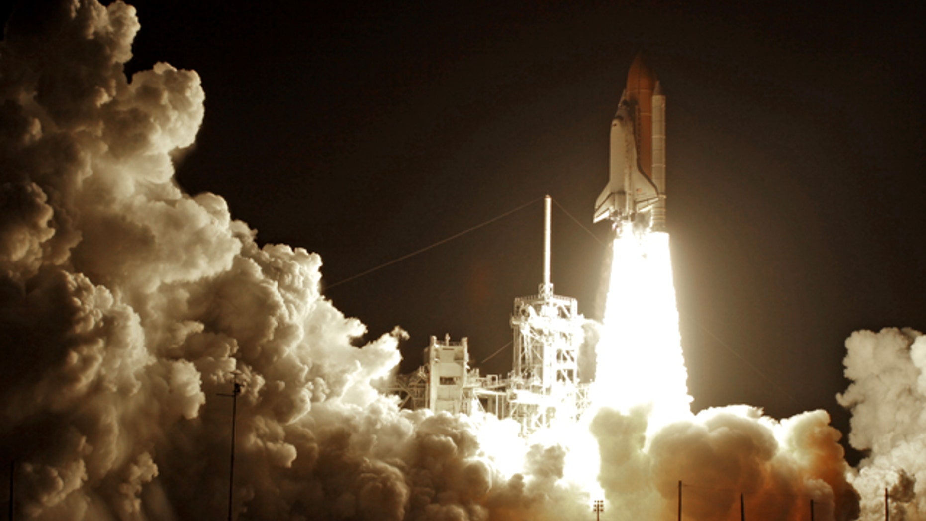 Space Shuttle Discovery lifts-off from the Kennedy Space Center at Cape Canaveral, Fla. Monday April 5, 2010. Discovery's seven member crew are on a mission to deliver science racks, the last of the crew quarters and supplies to the International Space Station.