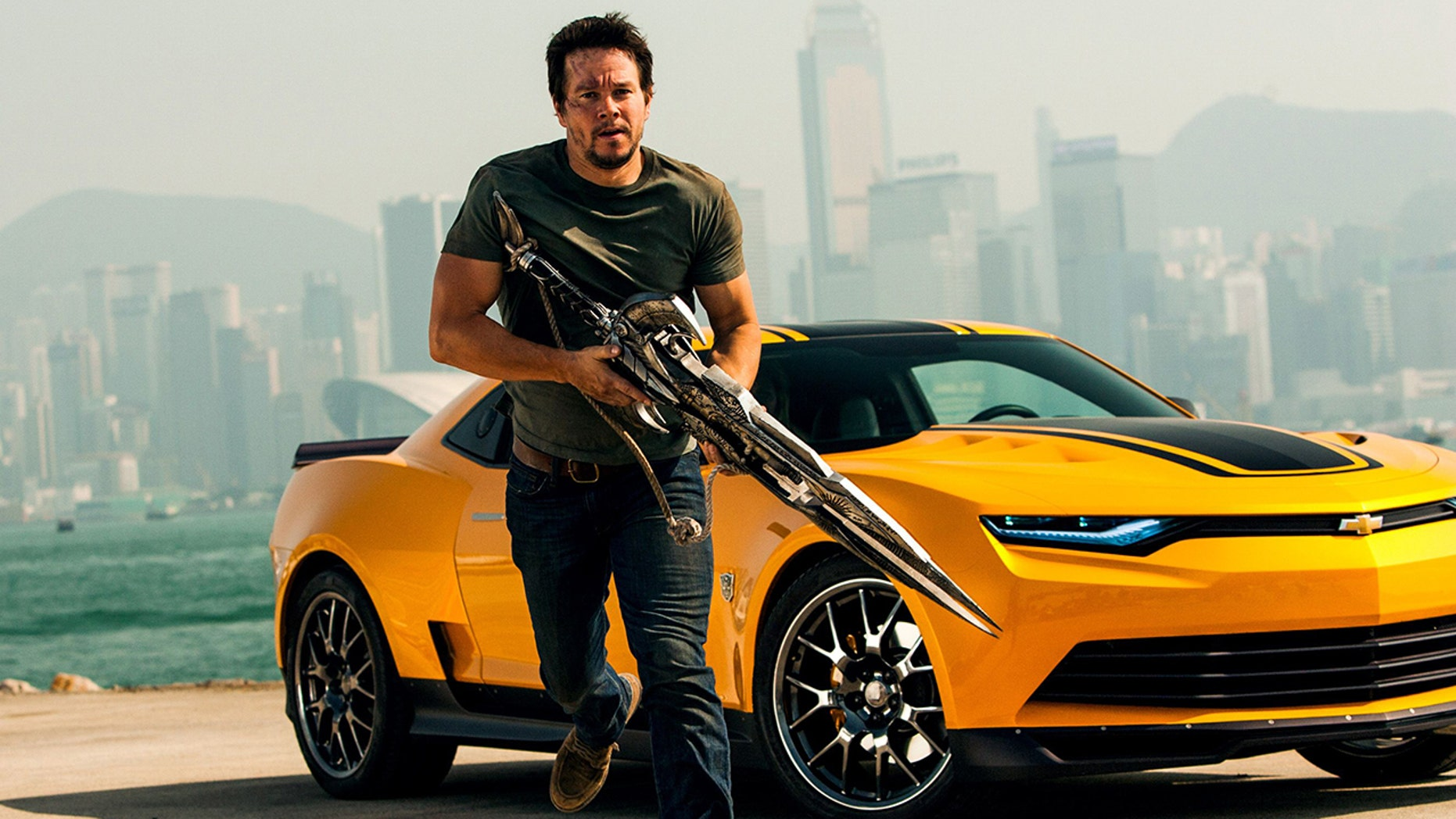 """Mark Wahlberg starred in two of the """"Transformers"""" films alongside Chevrolets that turn into robots."""