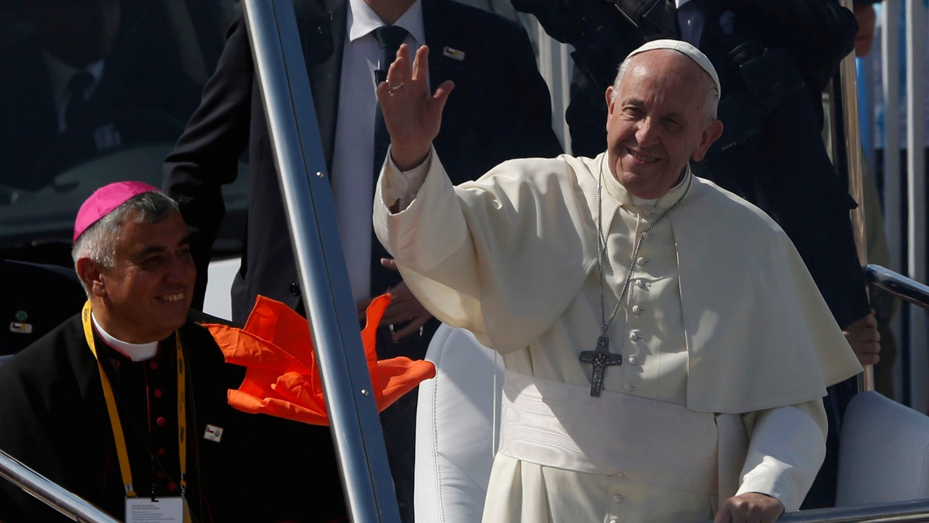Pope Francis celebrating Mass in Iquique, Chile, on Thursday.