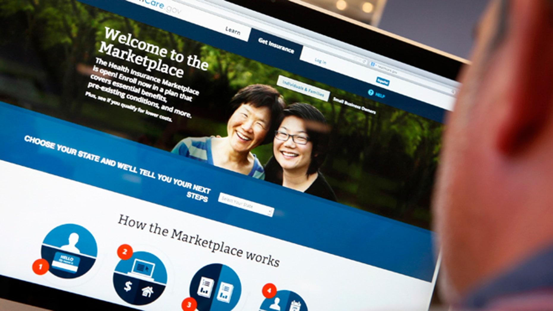 The ObamaCare website.