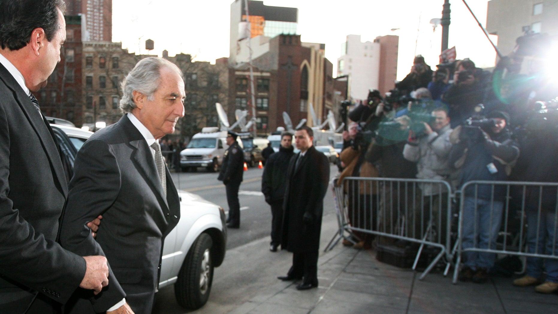 Bernard Madoff arrives at federal court in New York.