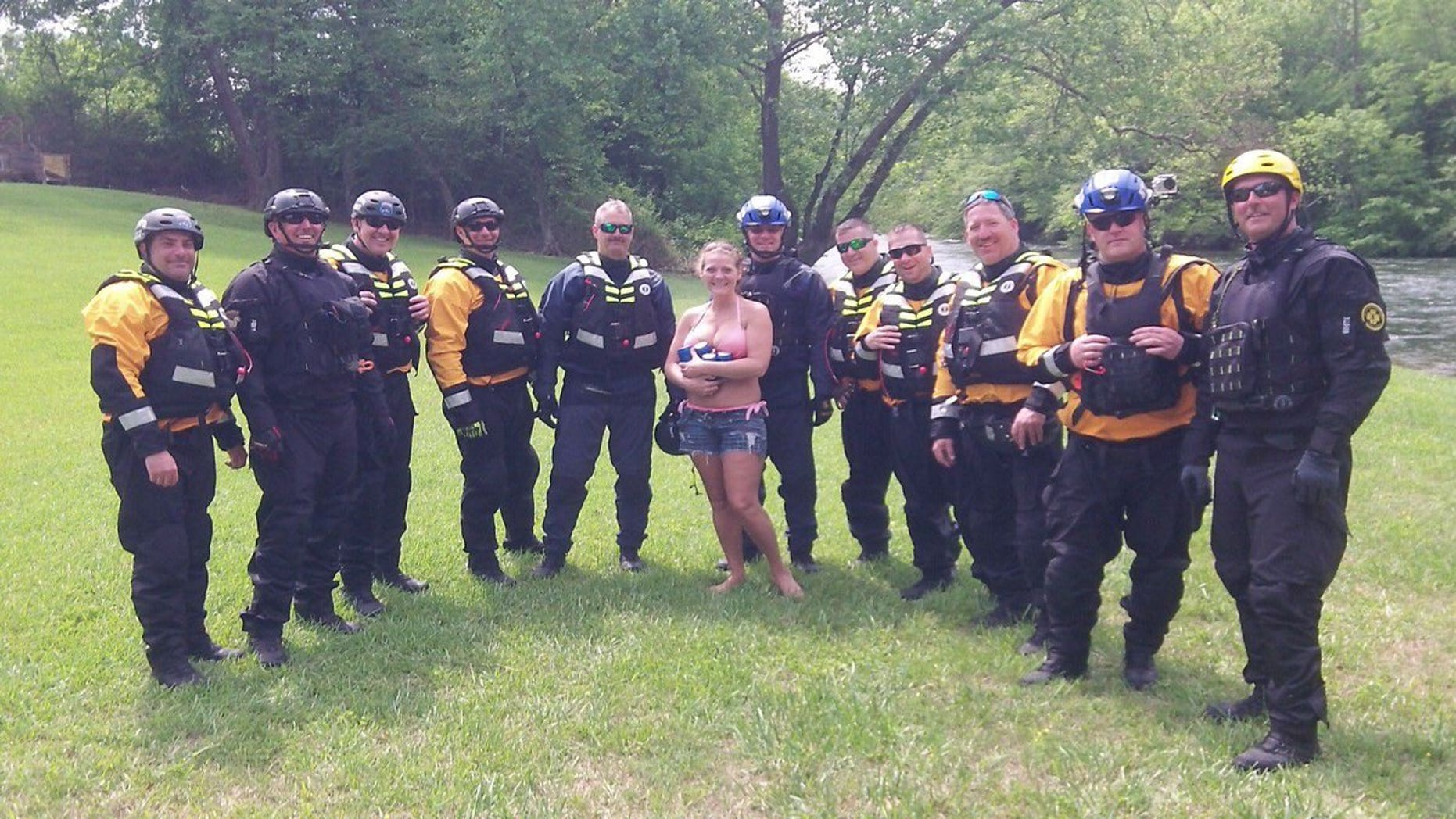 The NYPD was training at the river in North Carolina before the rescue.