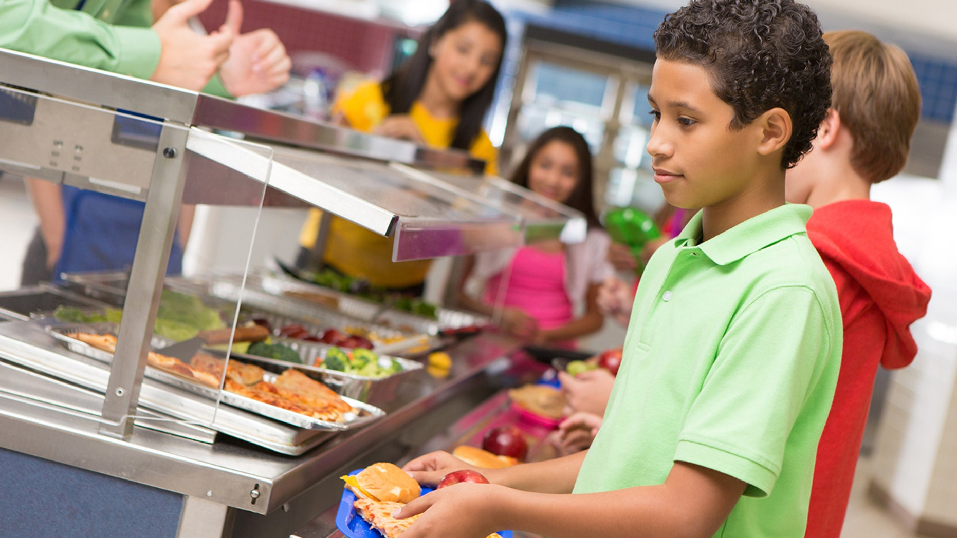 School district to give all student three free meals a day for the year.
