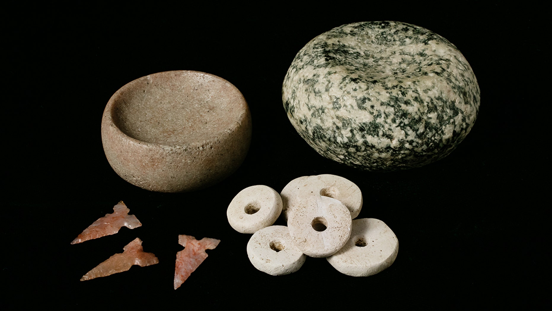 New artifacts from Cahokia (Photo by L. Brian Stauffer/University of Illinois Board of Trustees)