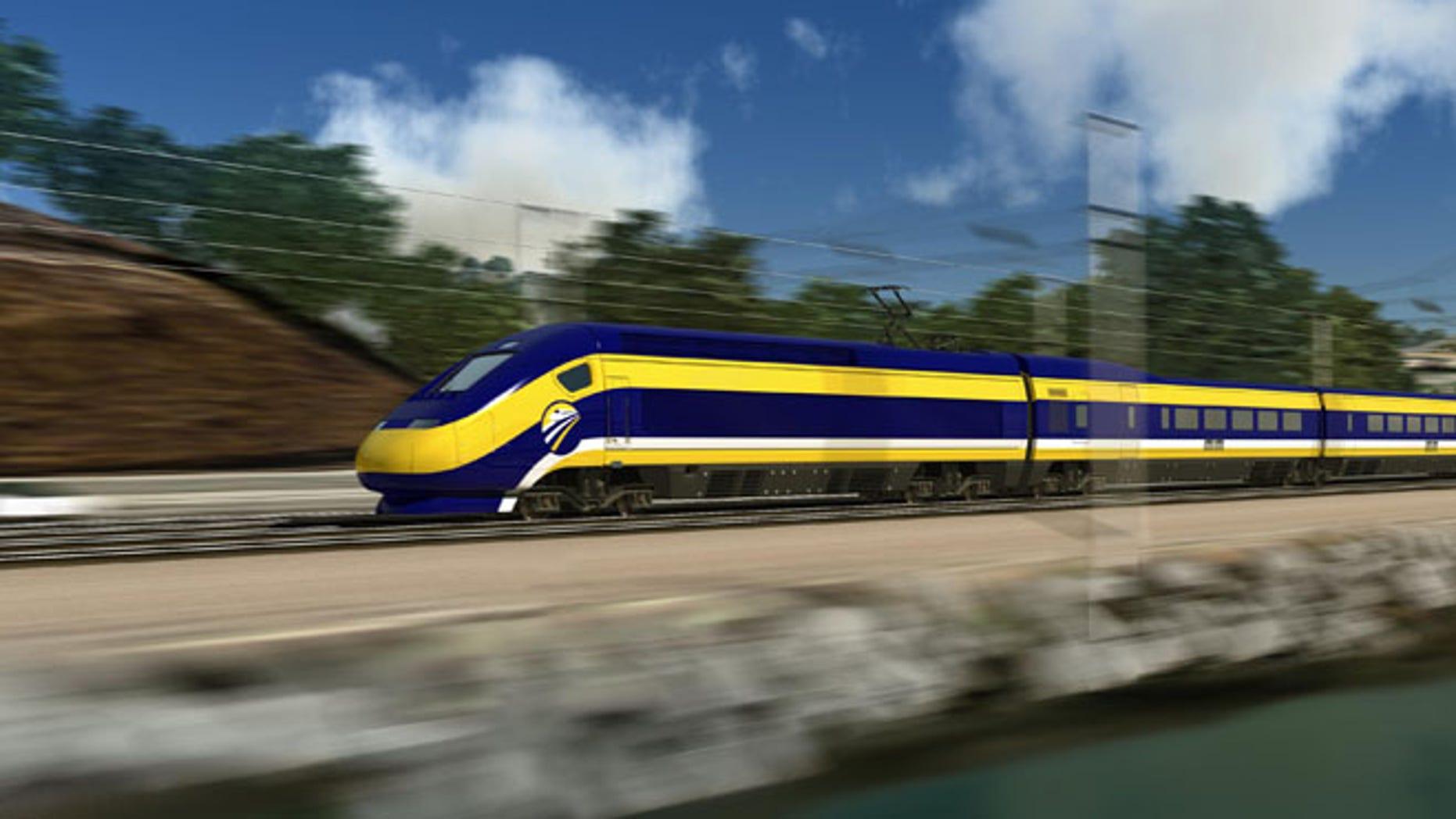 FILE: Feb. 13, 2013: California's high-speed train.