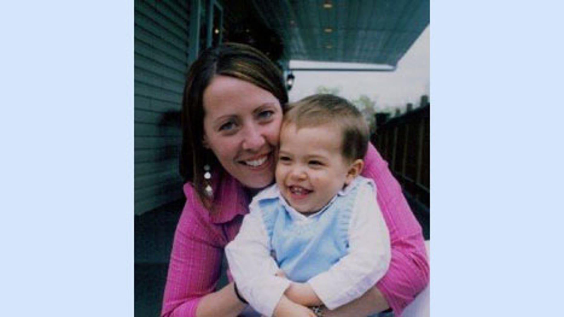 Nichole Mitschele with her son Caleb