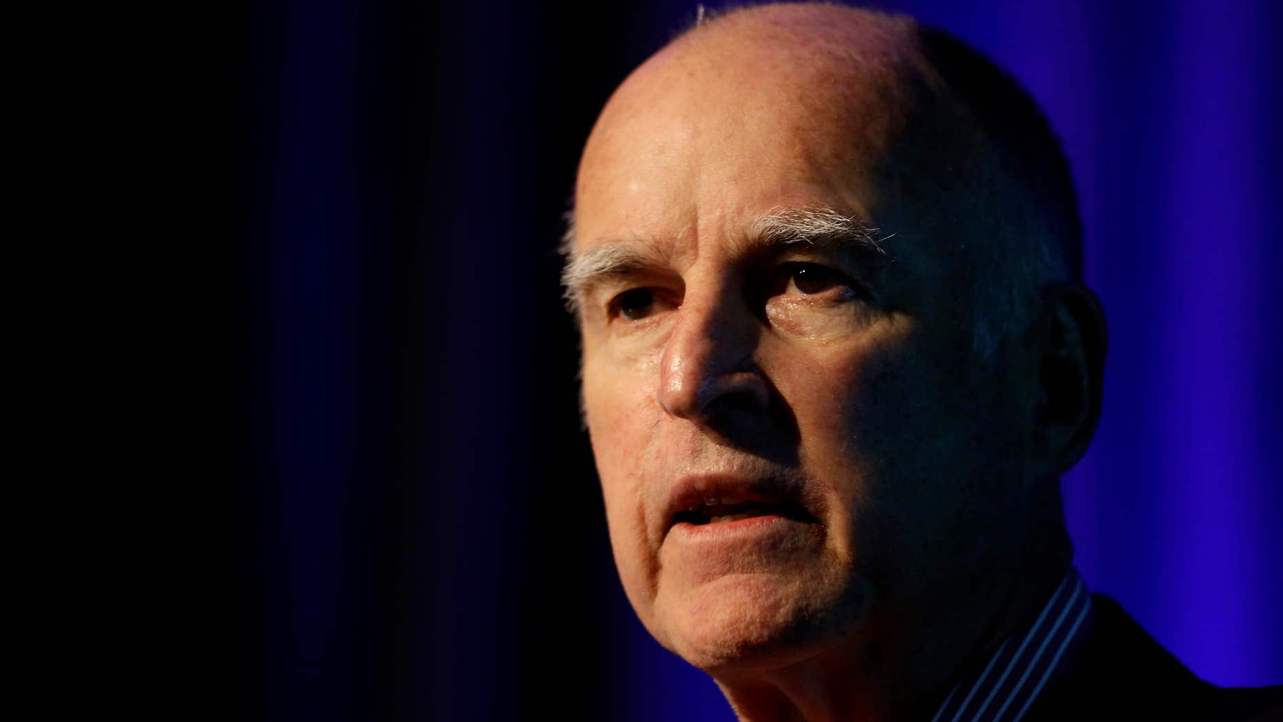 Jan. 23, 2015: California Gov. Jerry Brown speaks at the Fourth Annual Public Safety Realignment Conference in Sacramento, Calif.