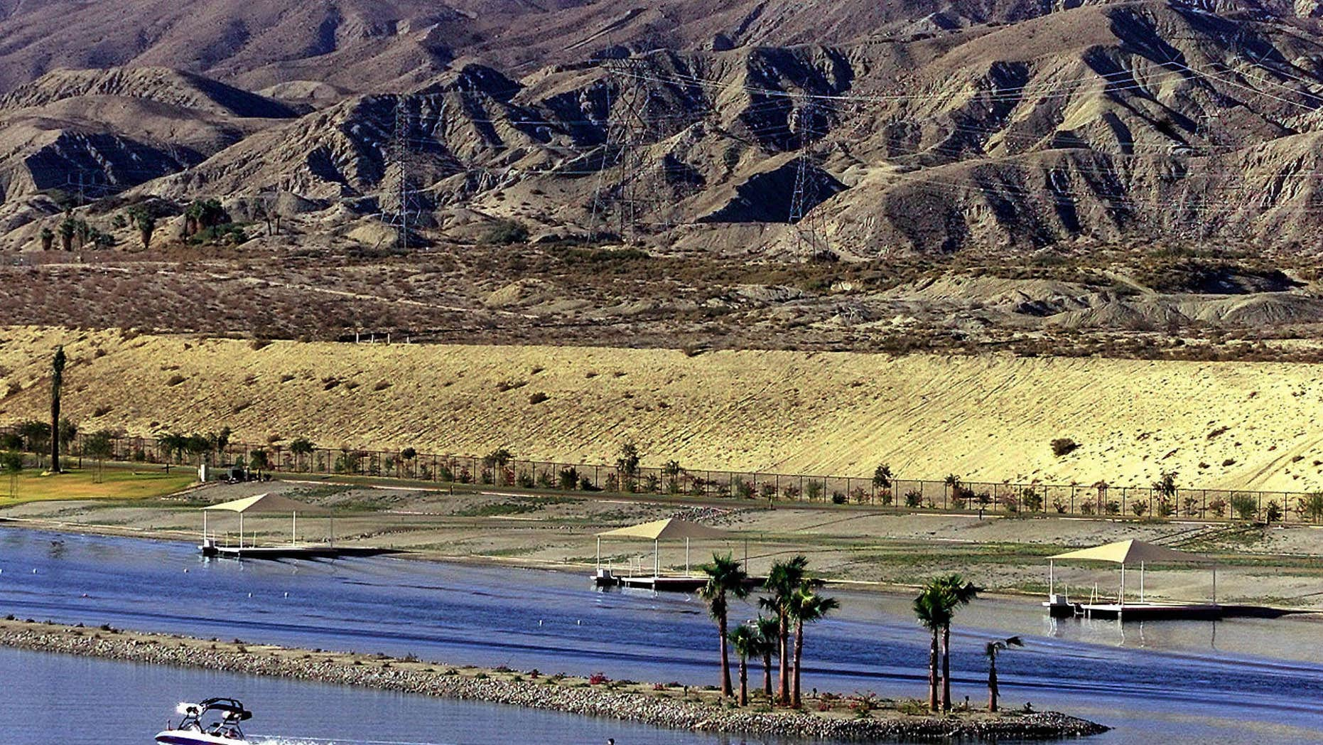 Oct. 17, 2000: A water skier at ShadowLake Estates passes below the San Gorgonio Mountains near Indio, Calif. California lawmakers and an array of interest groups are ramping up effort to designate four new national monuments in the state.