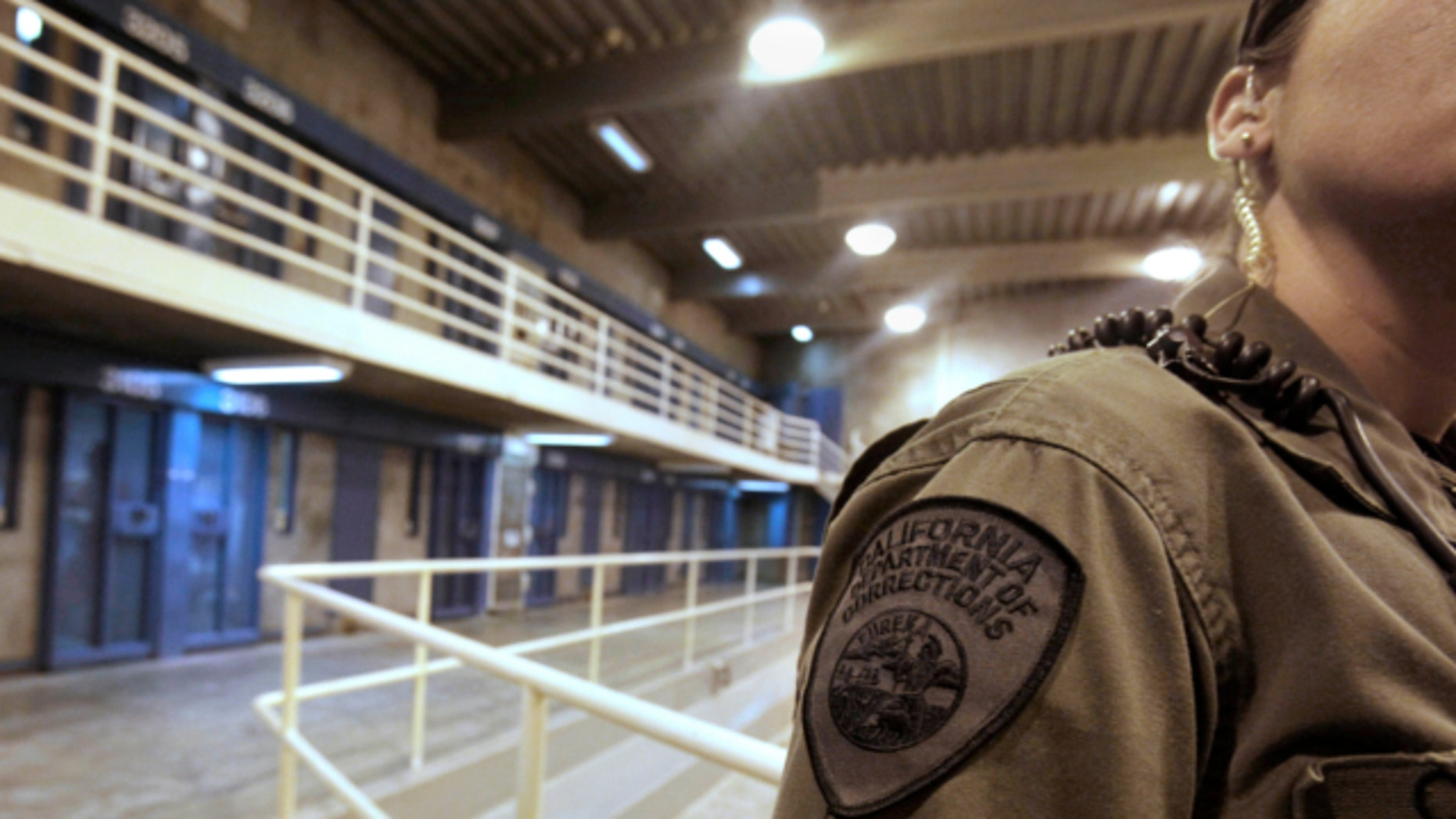 Aug. 17, 2011: A correctional officer is seen in one of the housing units at Pelican Bay State Prison near Crescent City, Calif.