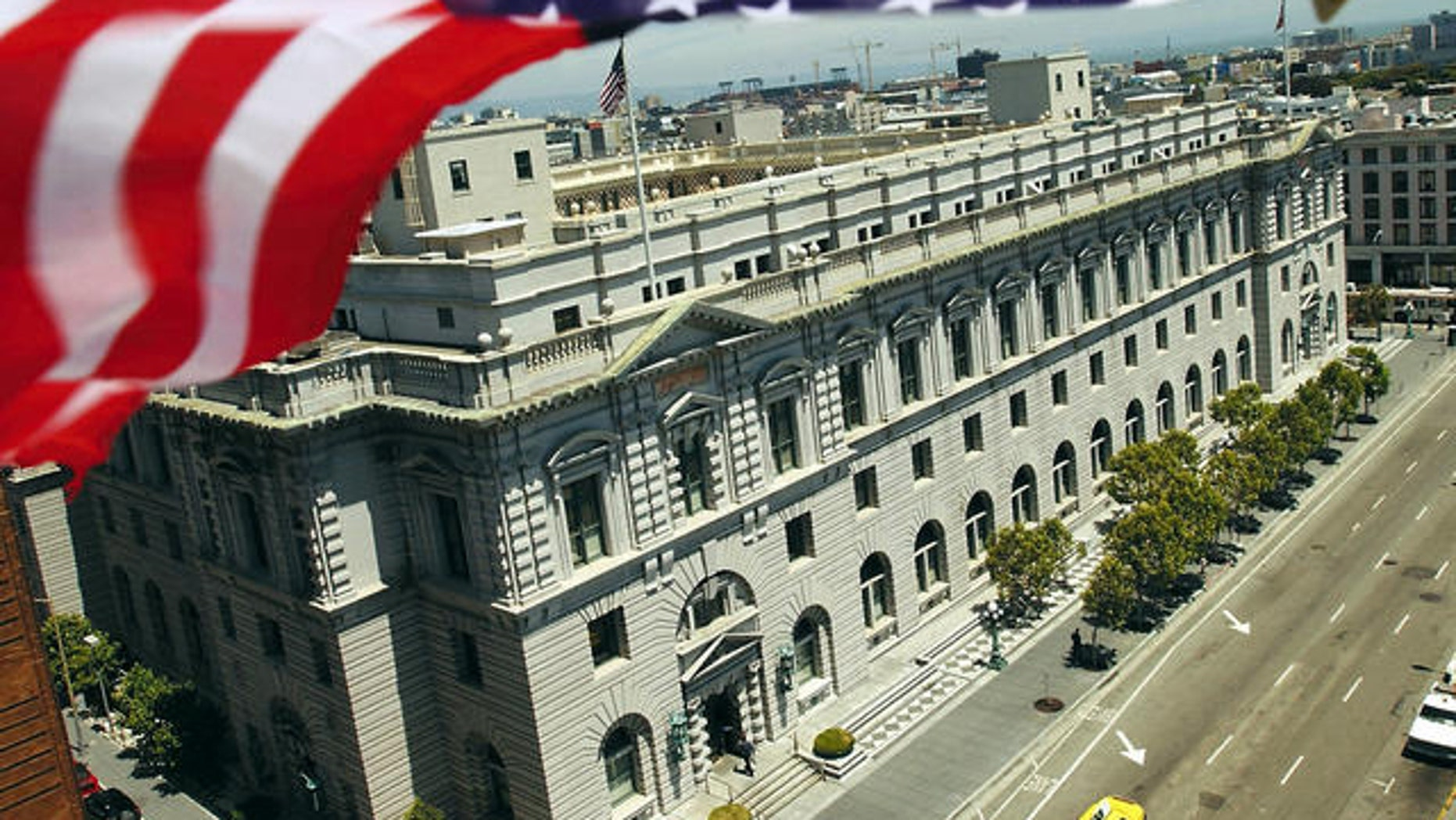The California Supreme Court building in San Francisco.