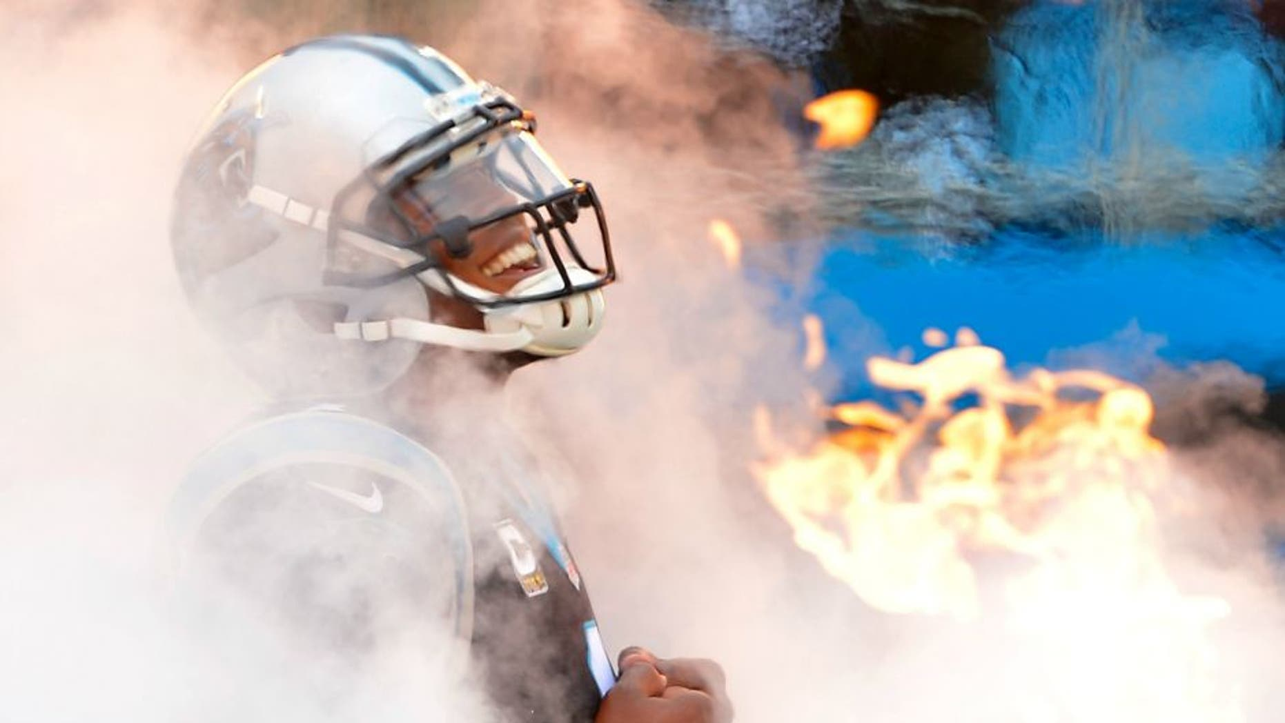 CHARLOTTE, NC - NOVEMBER 13: Cam Newton #1 of the Carolina Panthers emerges from the tunnel before their game against the Kansas City Chiefs at Bank of America Stadium on November 13, 2016 in Charlotte, North Carolina. (Photo by Grant Halverson/Getty Images)