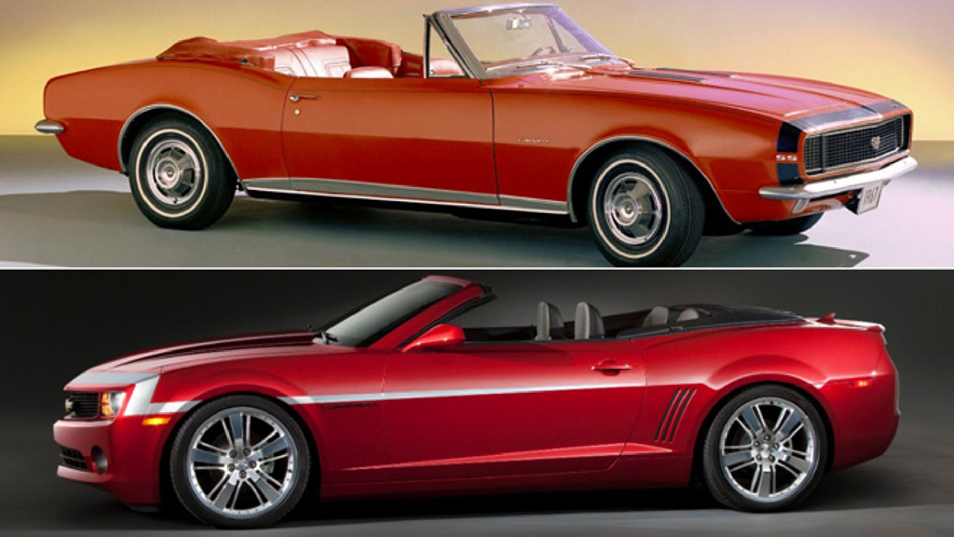 First and fifth generation Chevrolet Camaro Convertibles