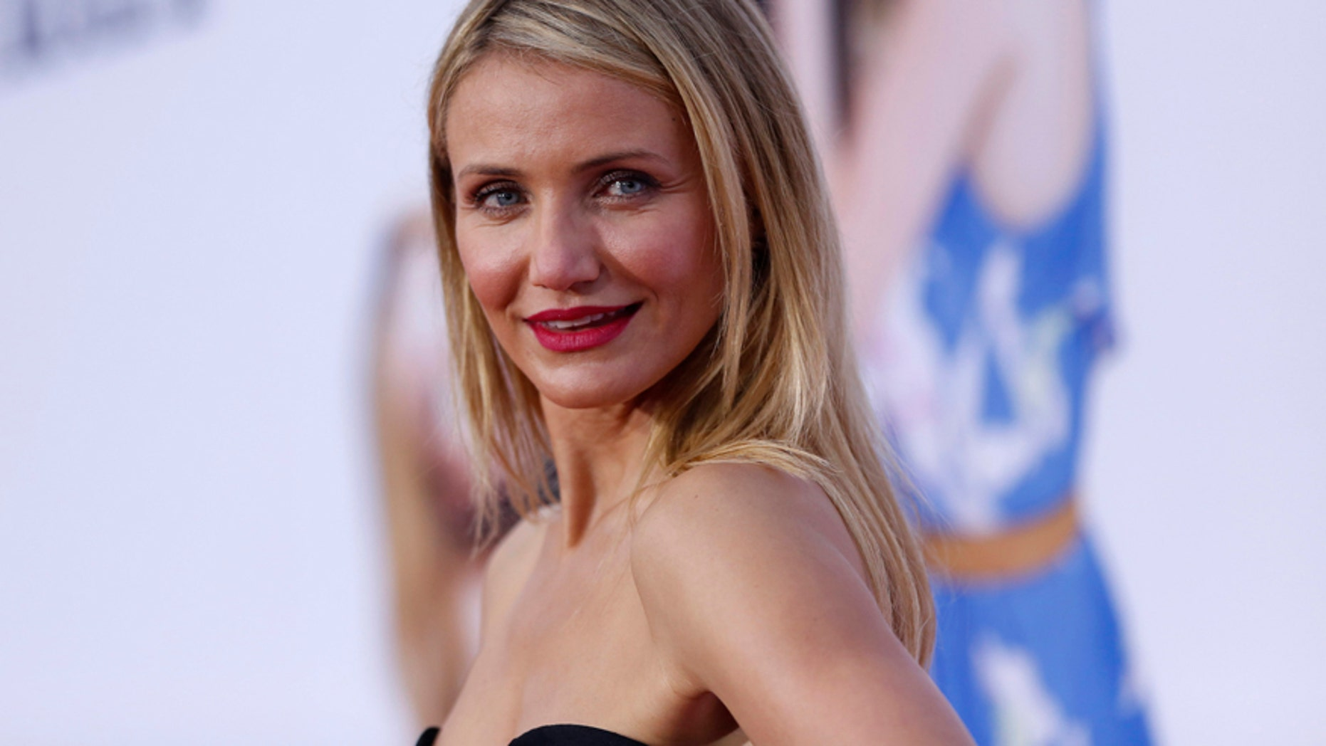 "Cast member Cameron Diaz poses at the premiere of the film ""The Other Woman"" in Los Angeles, California April 21, 2014."