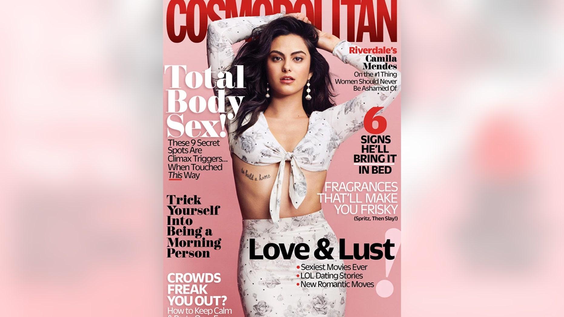"""Riverdale"" star Camila Mendes graces the cover of Cosmopolitan."