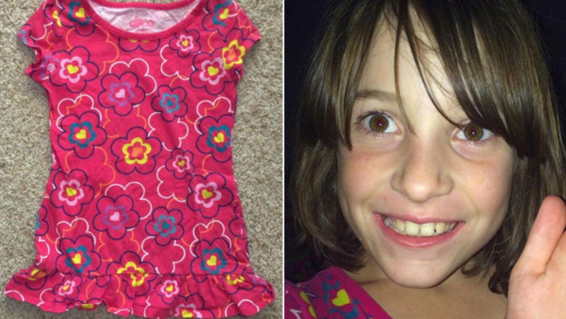 A Utah mother posted on Facebook about her daughter Cami, right, and her favorite shirt.