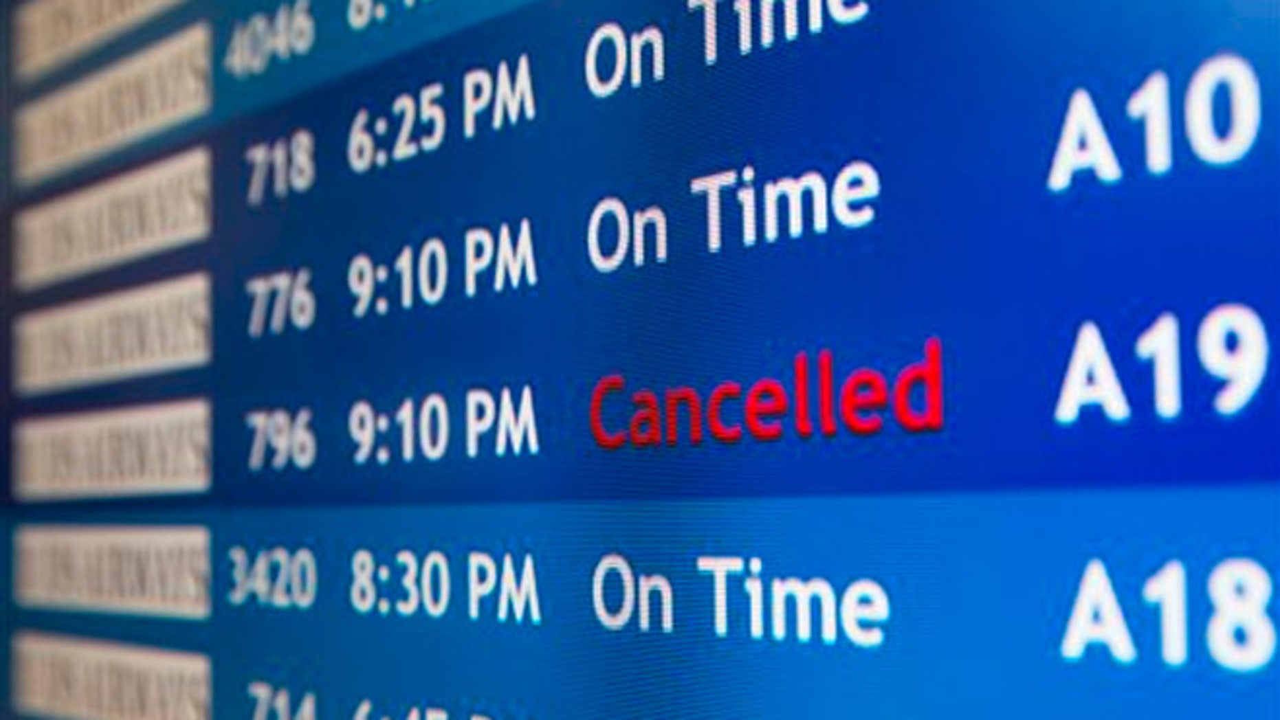 Airlines are preemptively canceling flights as winter storm warnings were posted from Oklahoma to New Jersey and from Illinois to the Deep South.