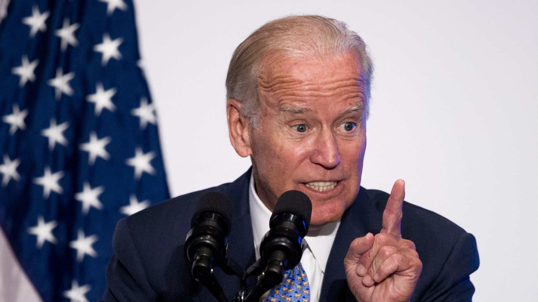 """Vice President Joe Biden speaks in Washington, Wednesday, Sept. 7, 2016. A new report outlines a scientific roadmap for the White House's cancer """"moonshot"""" initiative, urging research to harness the power of immune-based therapy, and to better tailor treatment by helping more patients get their tumors genetically profiled."""