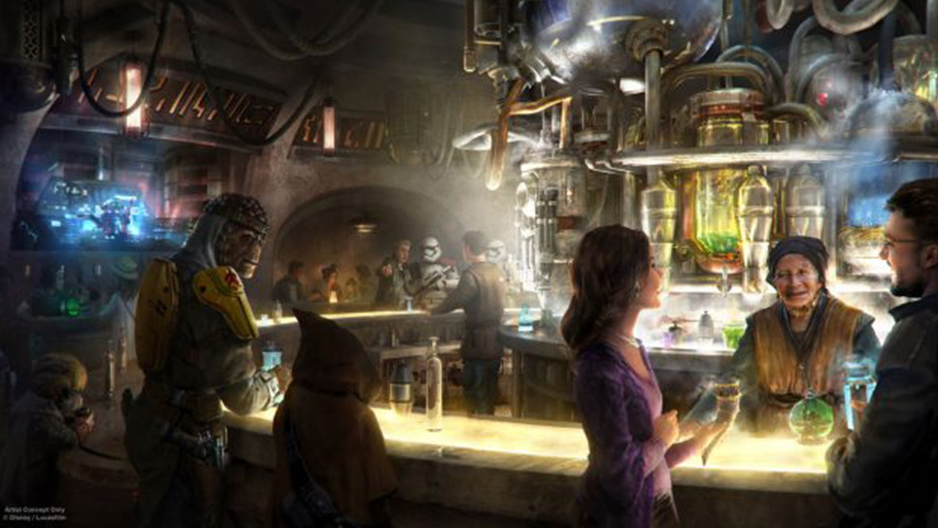 "Disneyland announced it will be selling alcohol for the first time at its new ""Star Wars"" cantina."