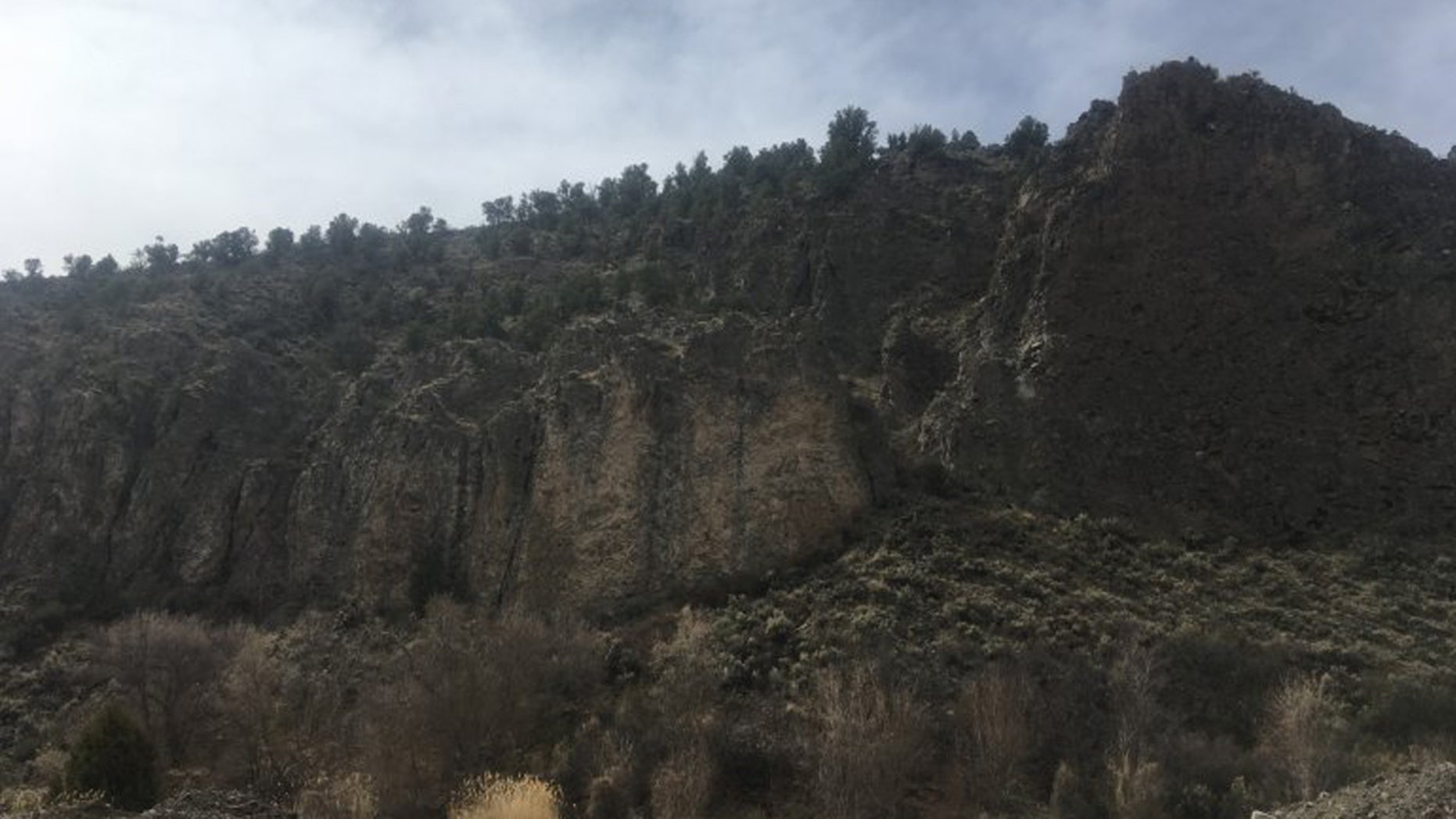 A man died after falling from a cliff in Garfield Canyon, Utah on Saturday.