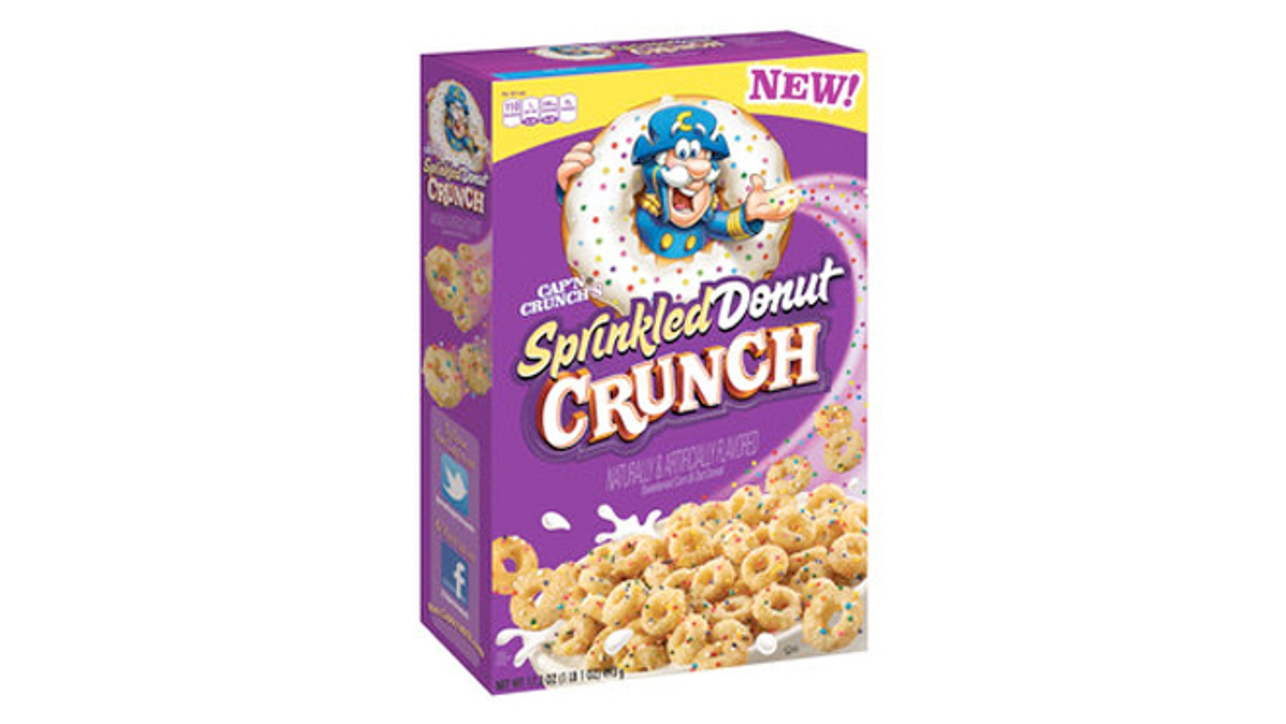 The Cap'n has got a new flavor: Sprinkled Donut Crunch.