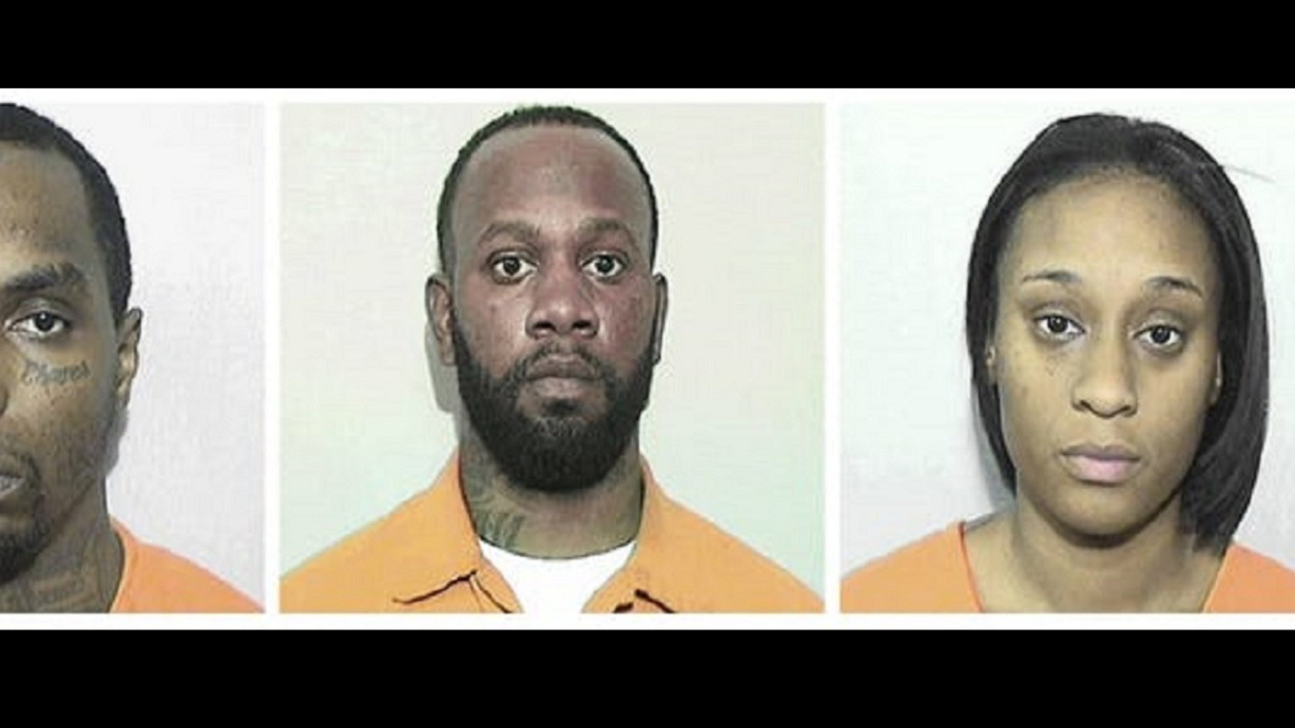 Darrius Lonzo Lewis, left, Anthony Ray Robinson, Barbara Nykitta Wilson were arrested on charges relating to the attempted shipment of fentanyl.