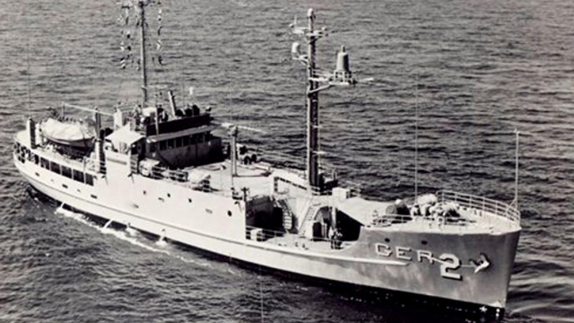 UNDATED: In this file photo from the U.S. Navy, U.S. Navy USS Pueblo sails underway at sea.