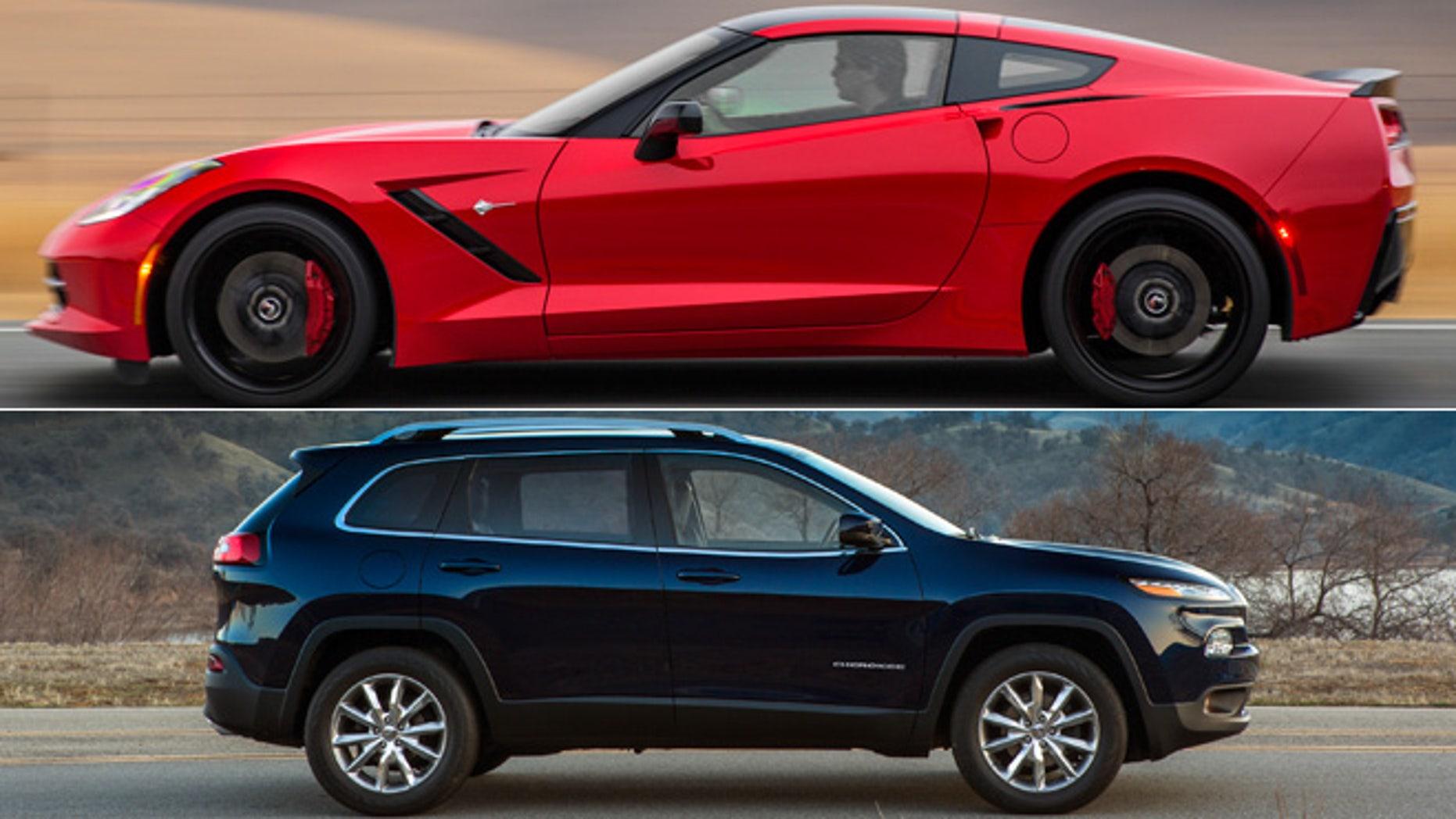2014 Chevrolet Corvette Stingray/2014 Jeep Cherokee