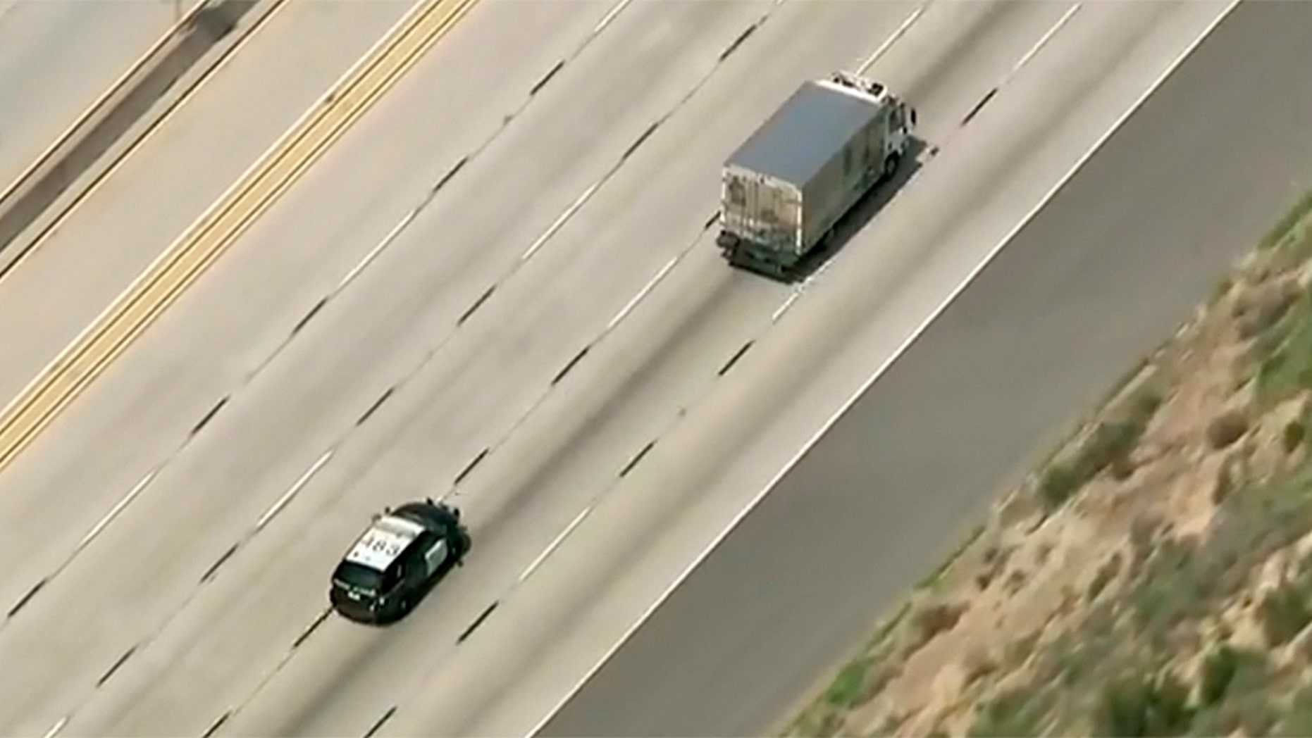 "A man stole a Stumptown Coffee Roasters truck and led police on a ""slow-speed chase"" down the California freeways."